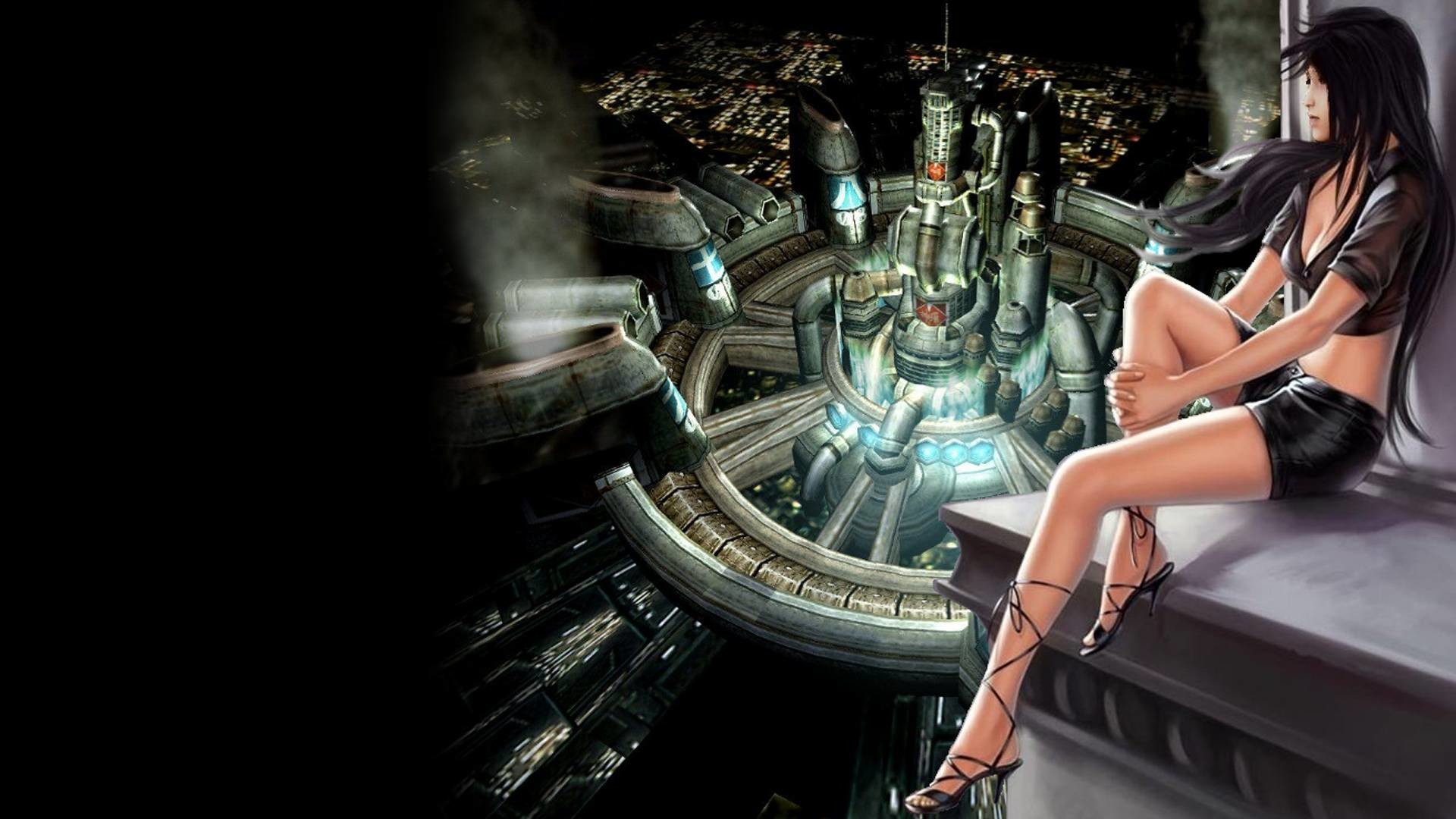 1920x1080 Final Fantasy 7 Girl Image.