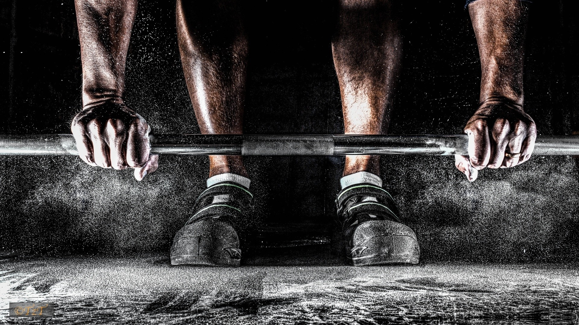 1920x1080 Barbell on the floor, lifting - HD wallpaper download. Wallpapers .
