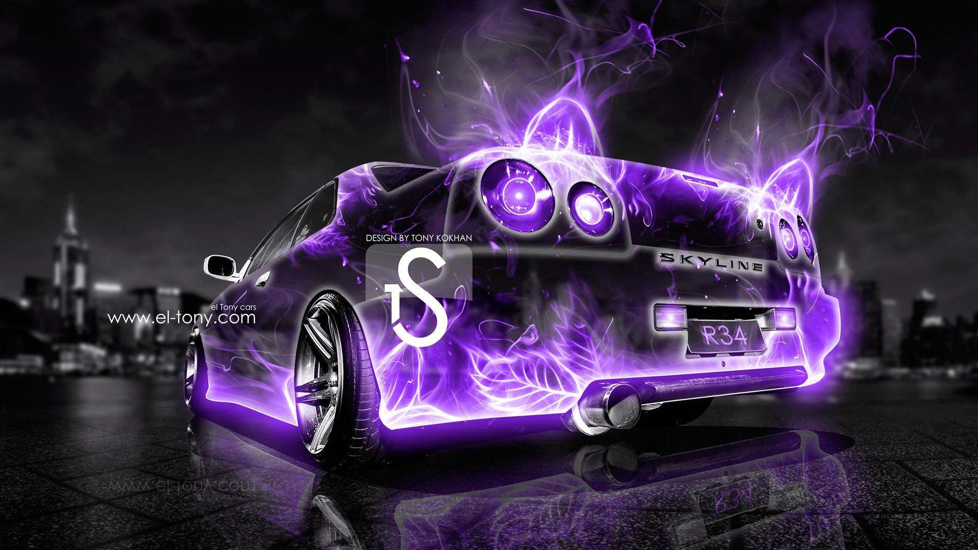 1920x1080 2013 Nissan Skyline Gtr R34 - Printable Invitation Download