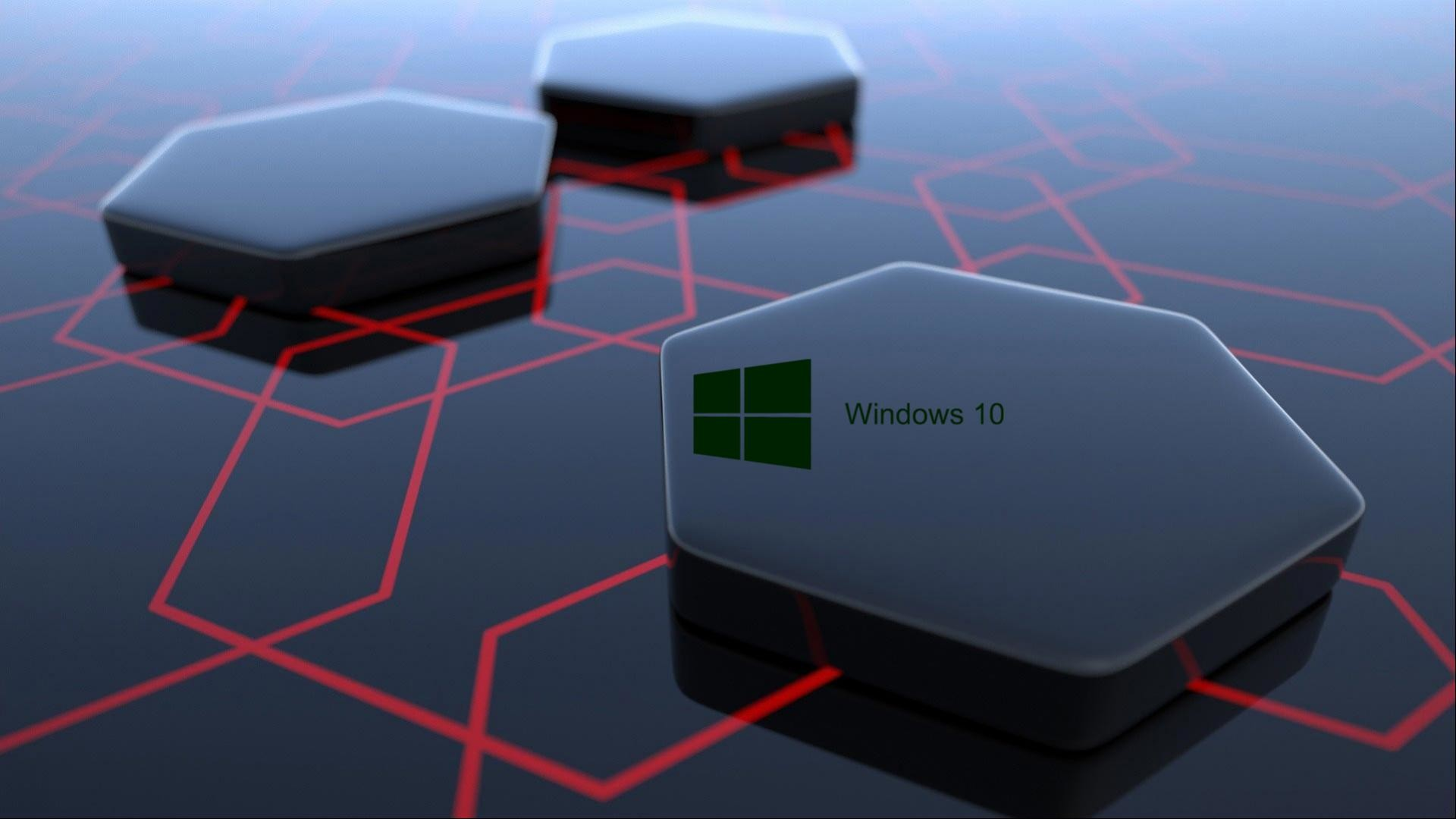 1920x1080 Windows 10 Desktop Image with 3d Art Black Hexagonal Wallpapers | HD .
