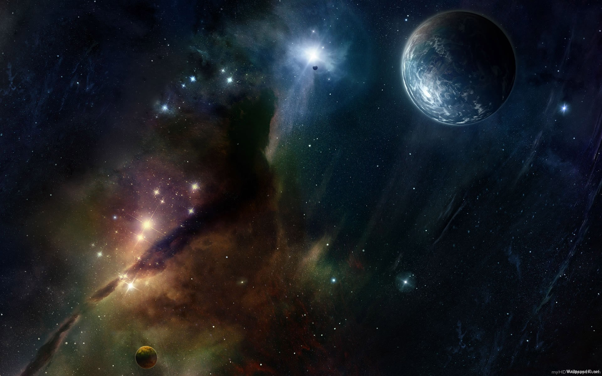 1920x1200 Space Planets Stars Landscapes Wallpaper have resolution px