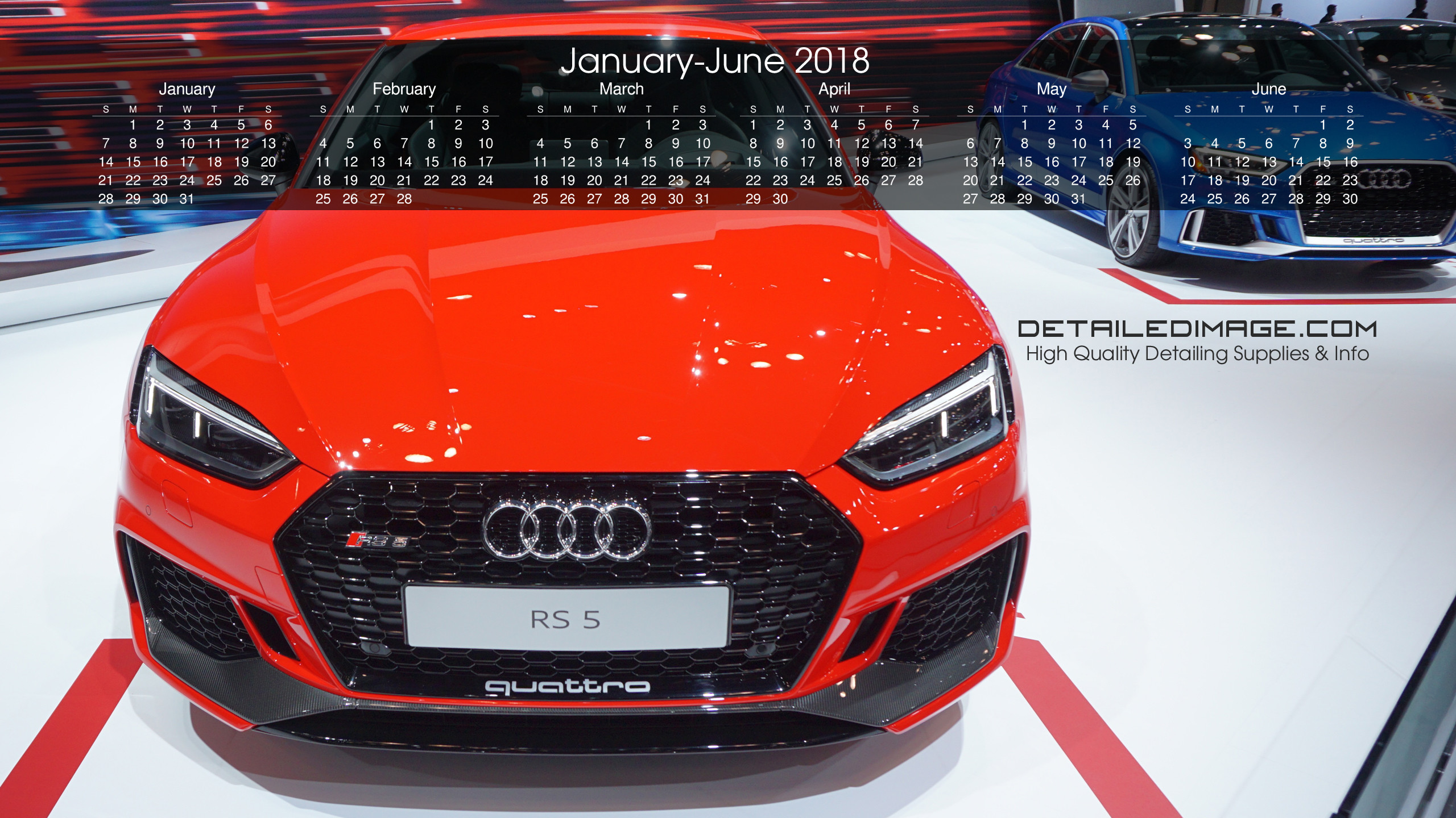 2560x1440 Detailed Image 2018 Wallpaper Calendar 1
