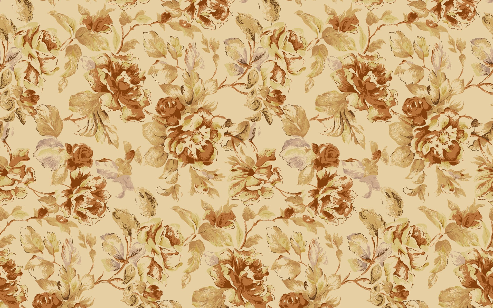 1920x1200 Simple Vintage Flowers Background Image