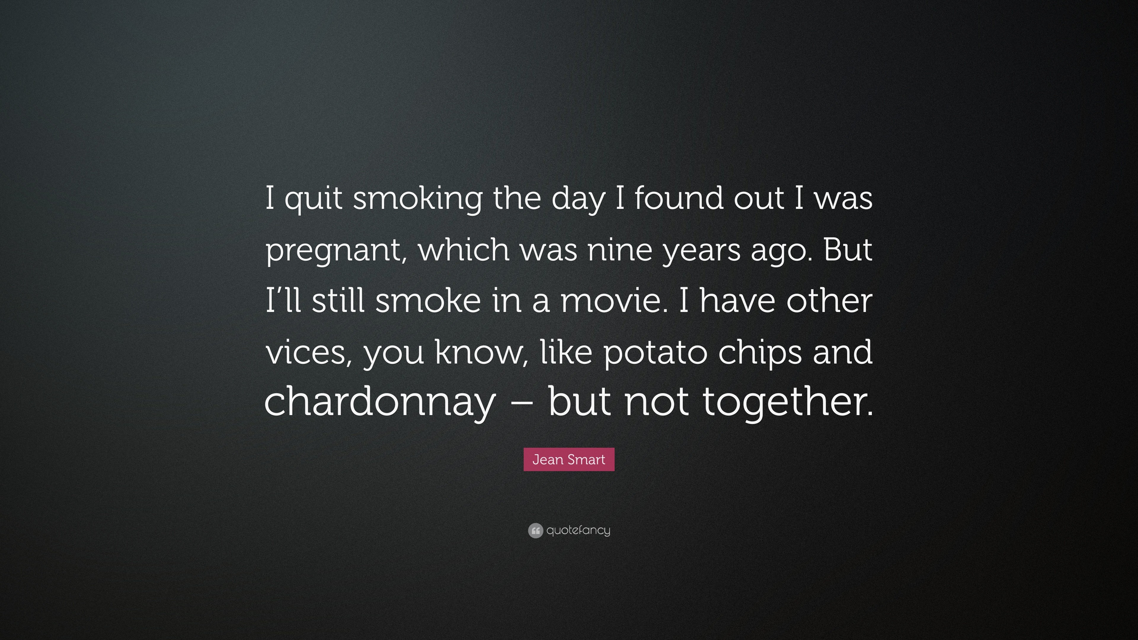 "3840x2160 Jean Smart Quote: ""I quit smoking the day I found out I was pregnant"