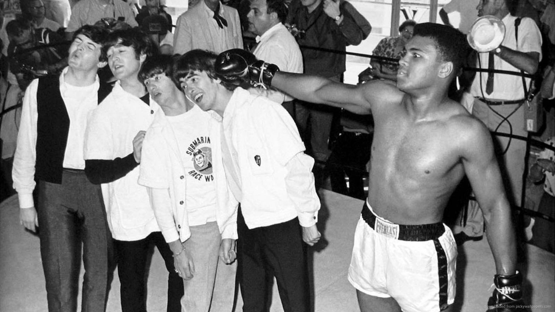 1920x1080 The Beatles With Muhammad Ali for