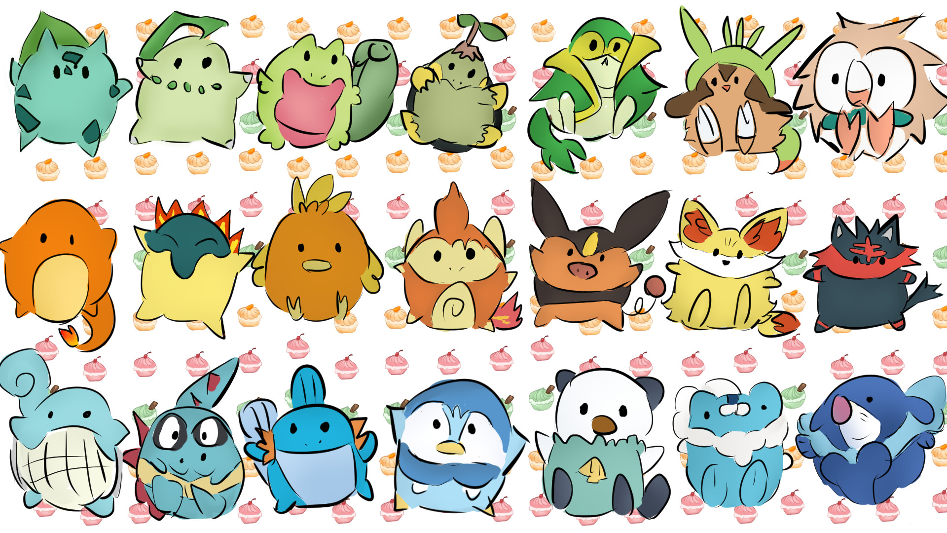 1920x1080 Chikorita Grass PokACmon Starter Pokemon A HD Wallpaper