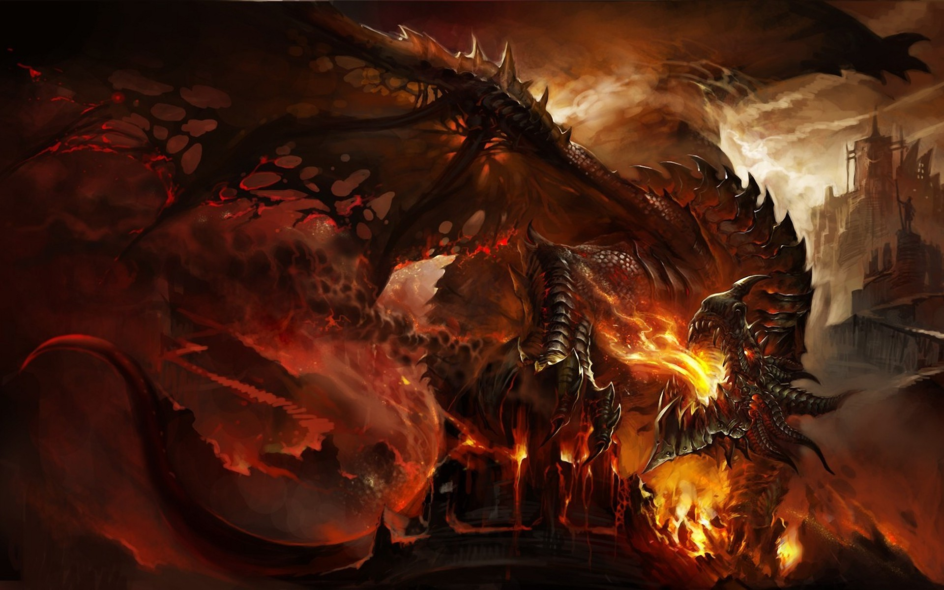 3840x2160 Preview Wallpaper World Of Warcraft Horde Symbol Background Red