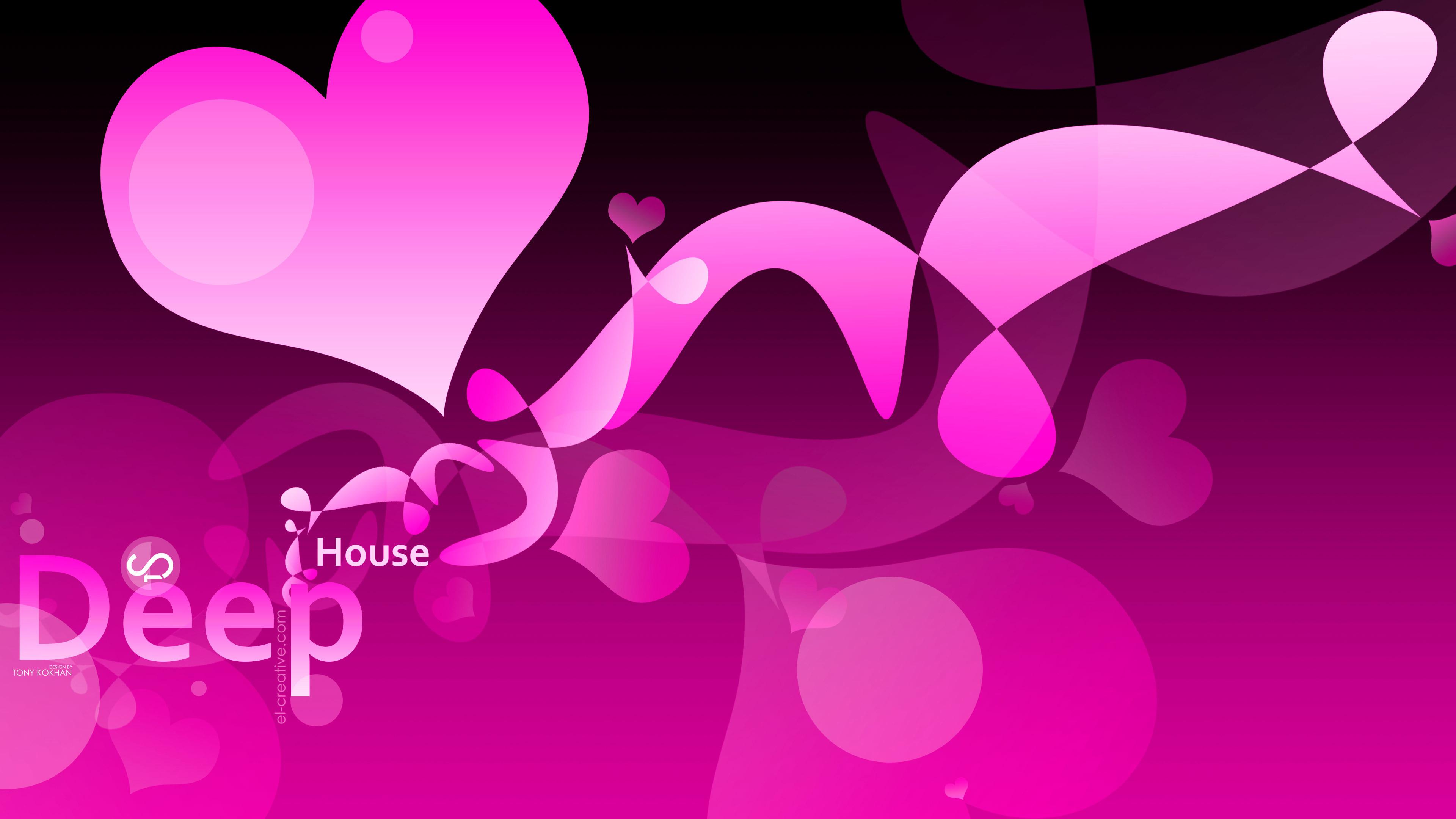 Deep House Music Abstract DJ Words