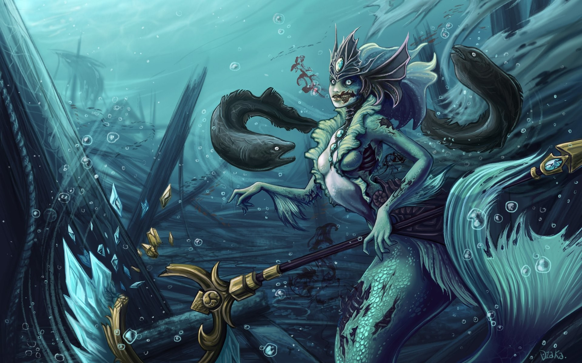 1920x1200 Video Game - League Of Legends Nami (League of Legends) Wallpaper