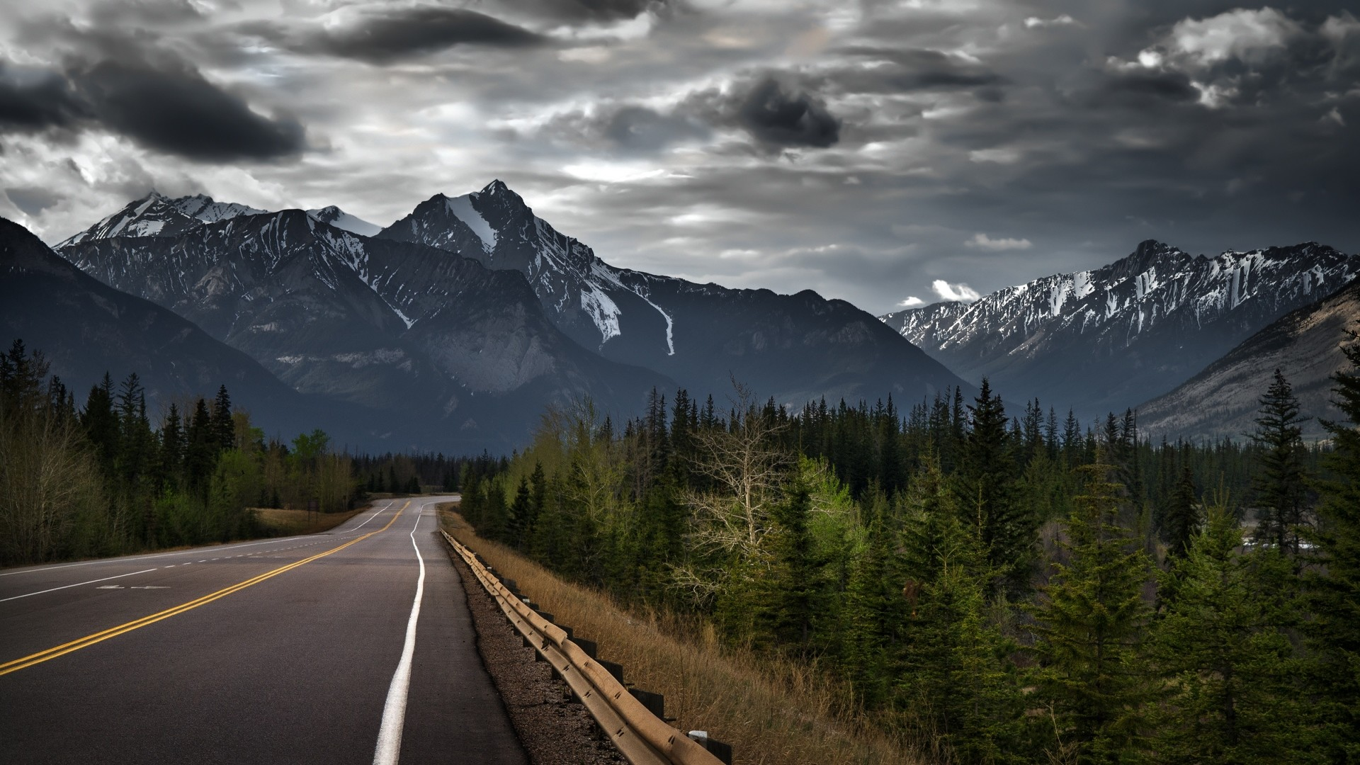1920x1080 Canada Mountain Road Wallpaper 61832