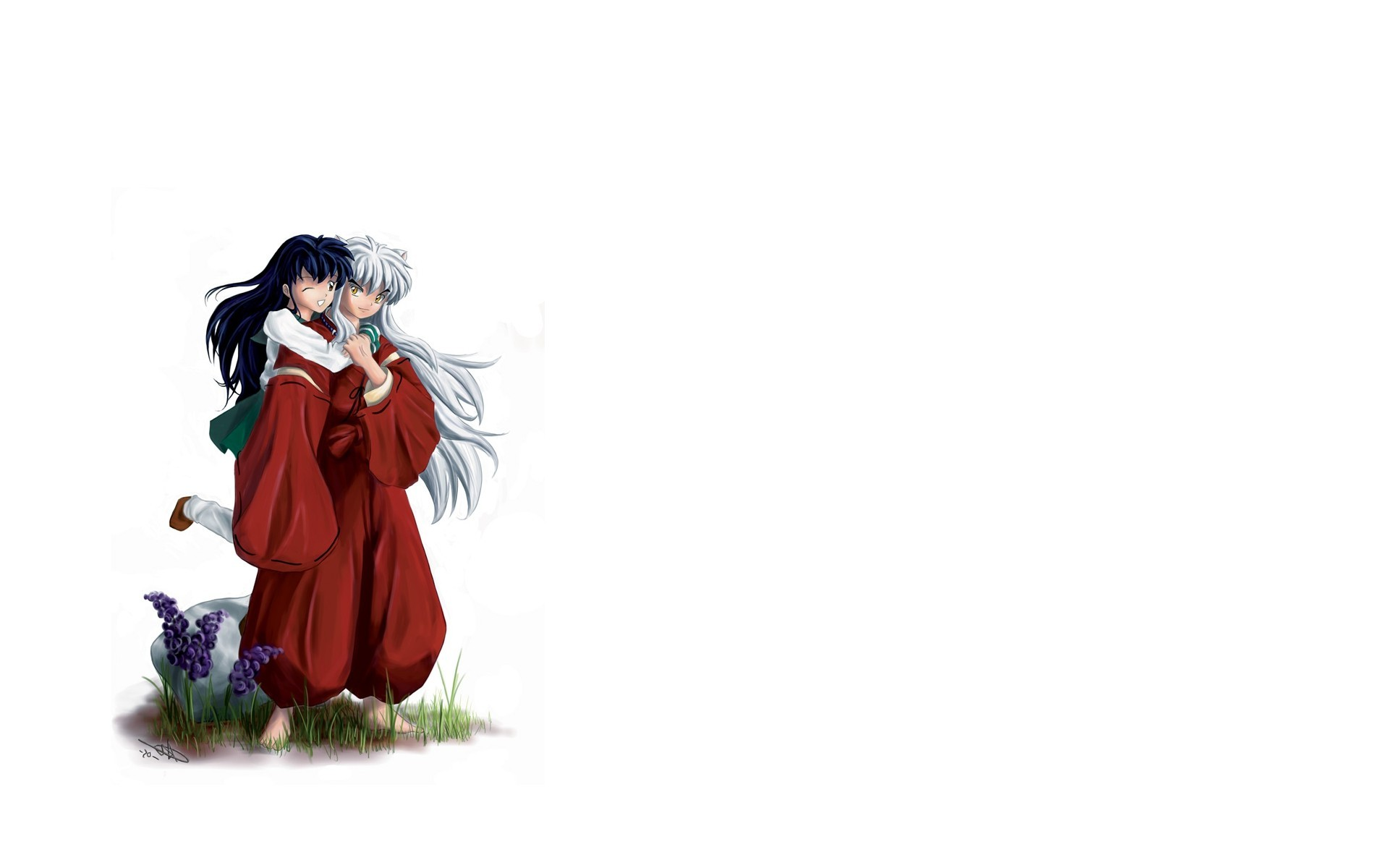 1920x1200 Inuyasha Girl Ears Scream Kick Sword Photo InuYasha Wallpaper