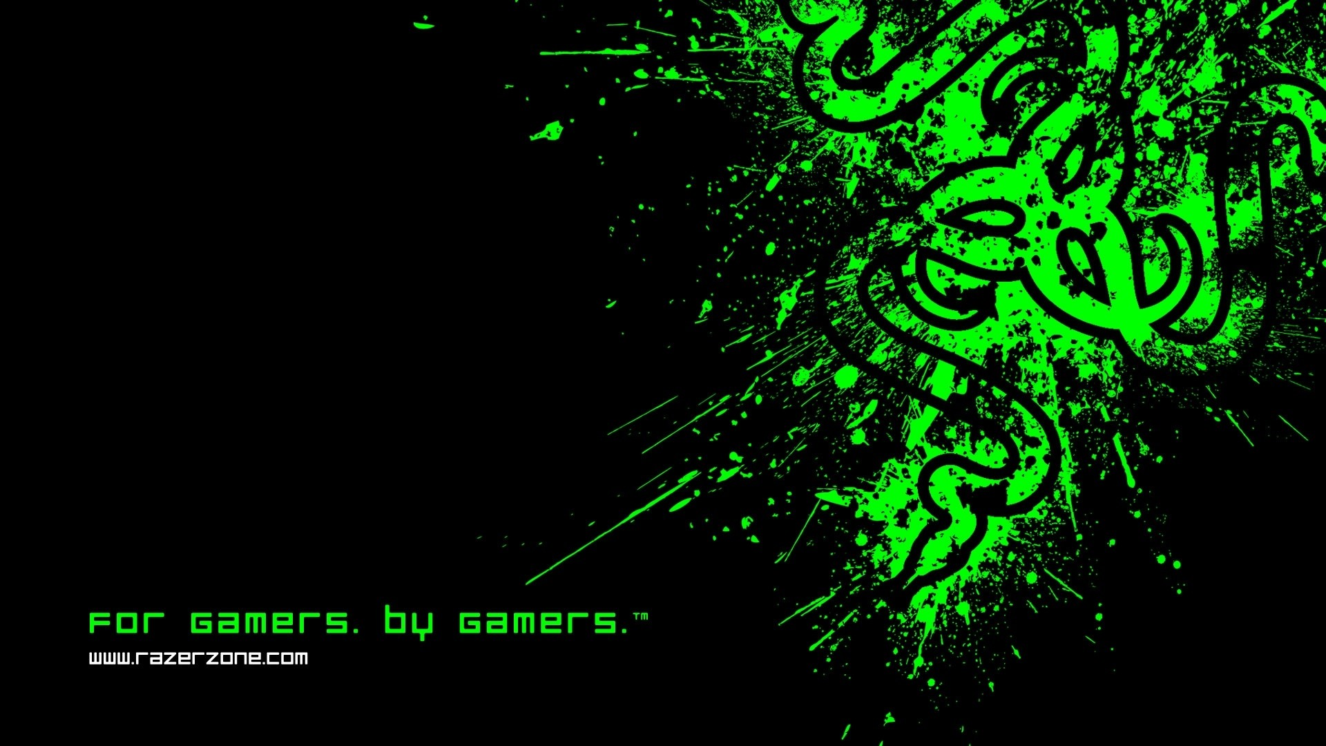 1920x1080 Preview wallpaper razer, symbol, logo, black