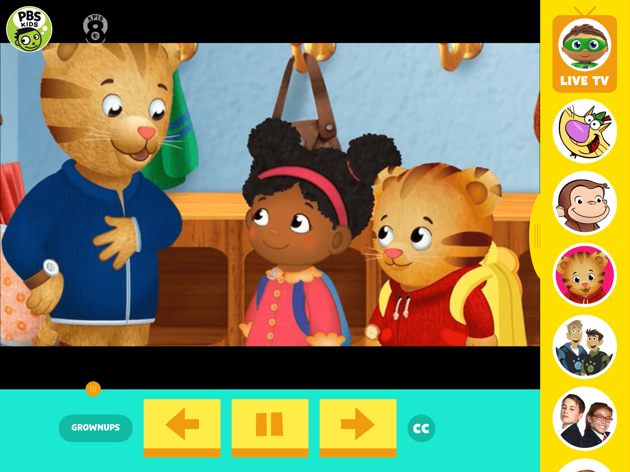 2048x1536 Screenshot of the PBS KIDS Video iPad app