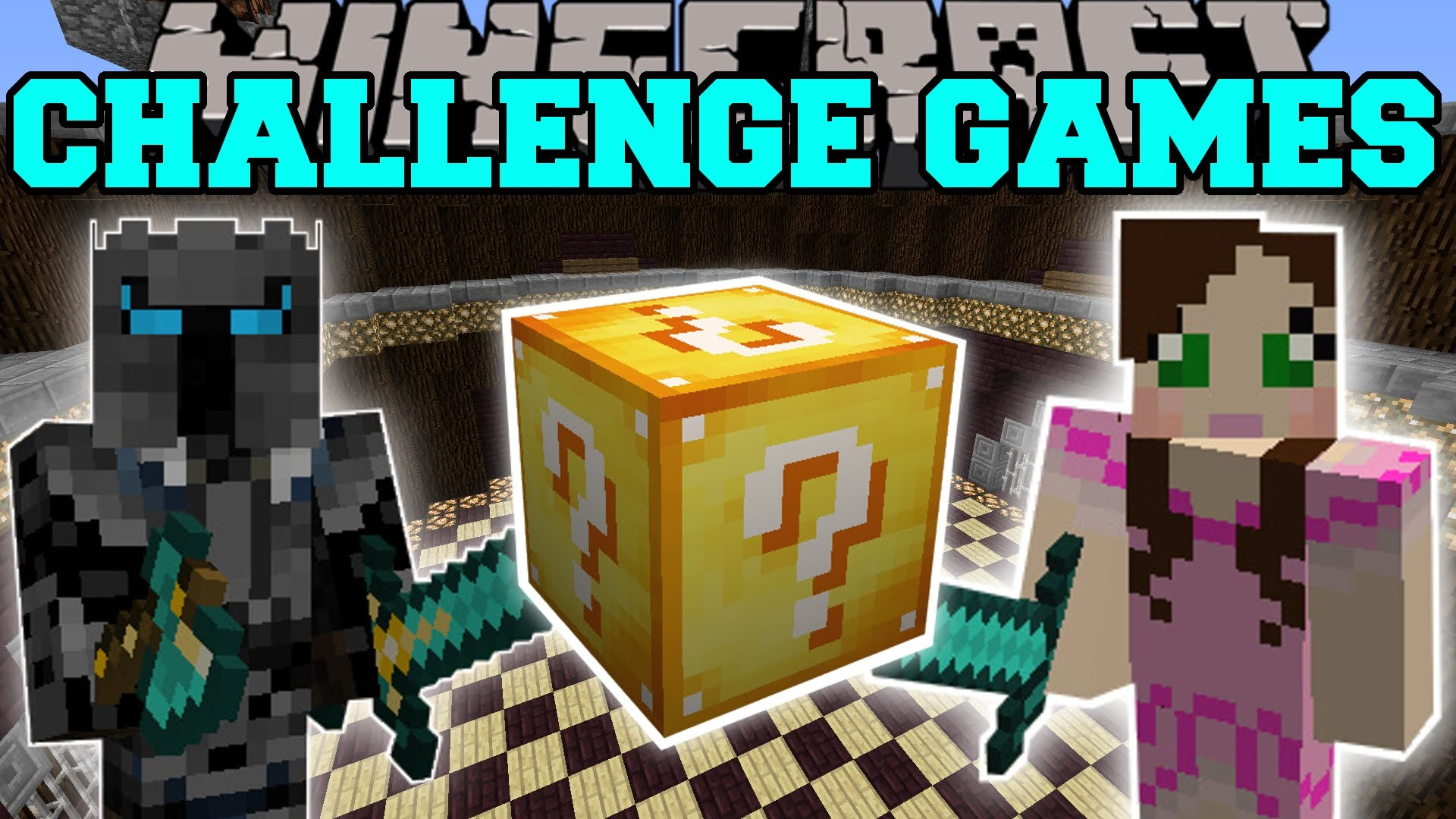 1920x1080 Minecraft: PAT VS JEN CHALLENGE GAMES - Lucky Block Mod - Modded Mini-Game  - YouTube