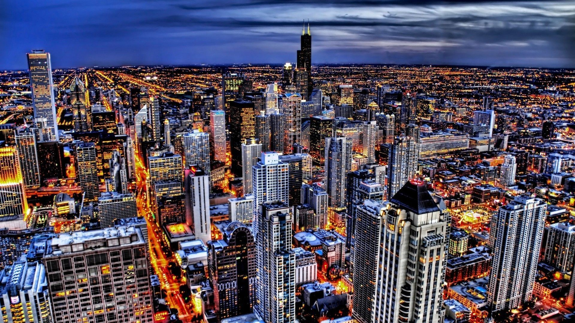 1920x1080 Chicago Skyline Wallpaper Wide #dRA