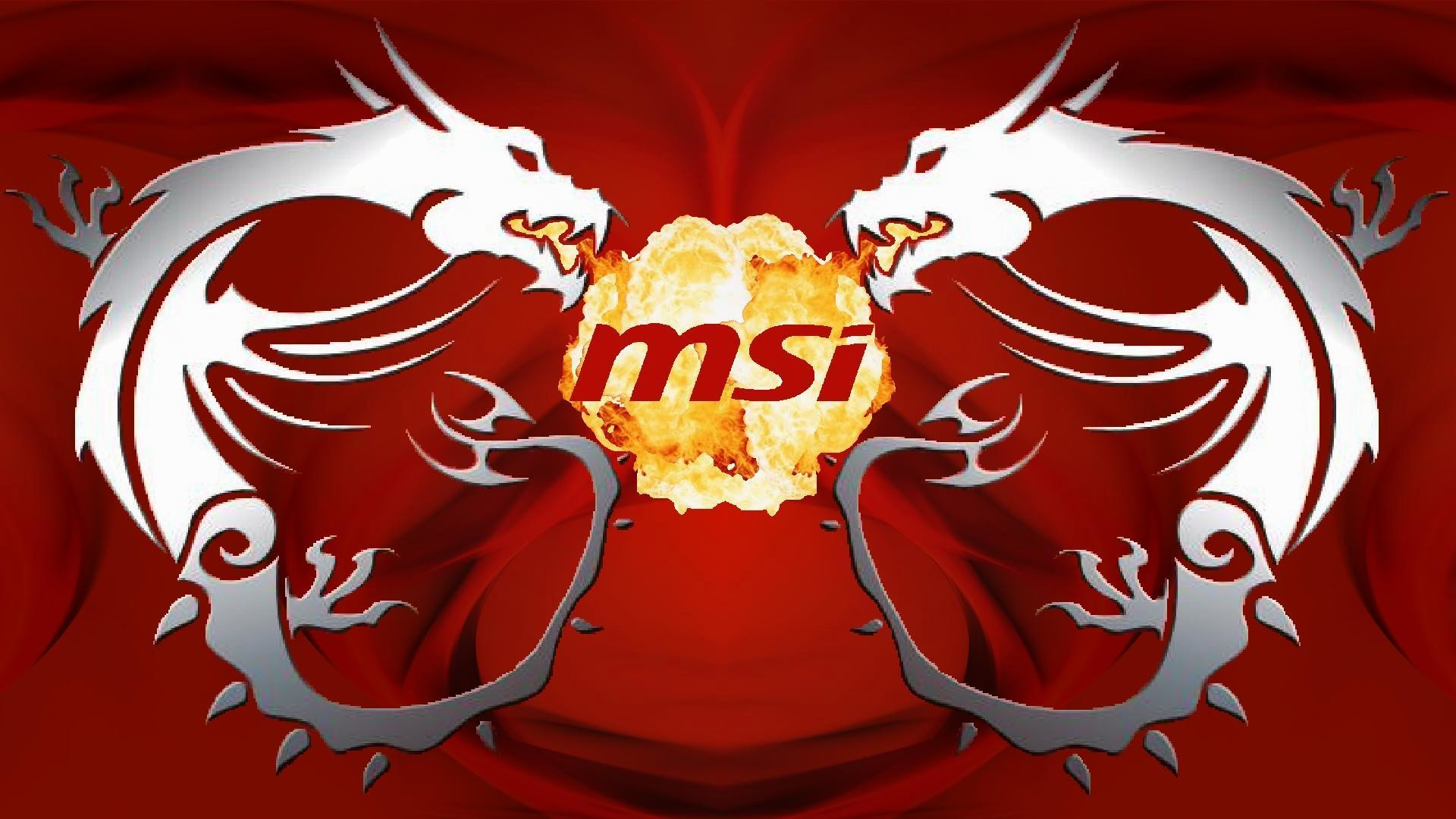 1920x1080 MSI, Dragon, Logo, PC Gaming, Technology, Hardware, Texture .