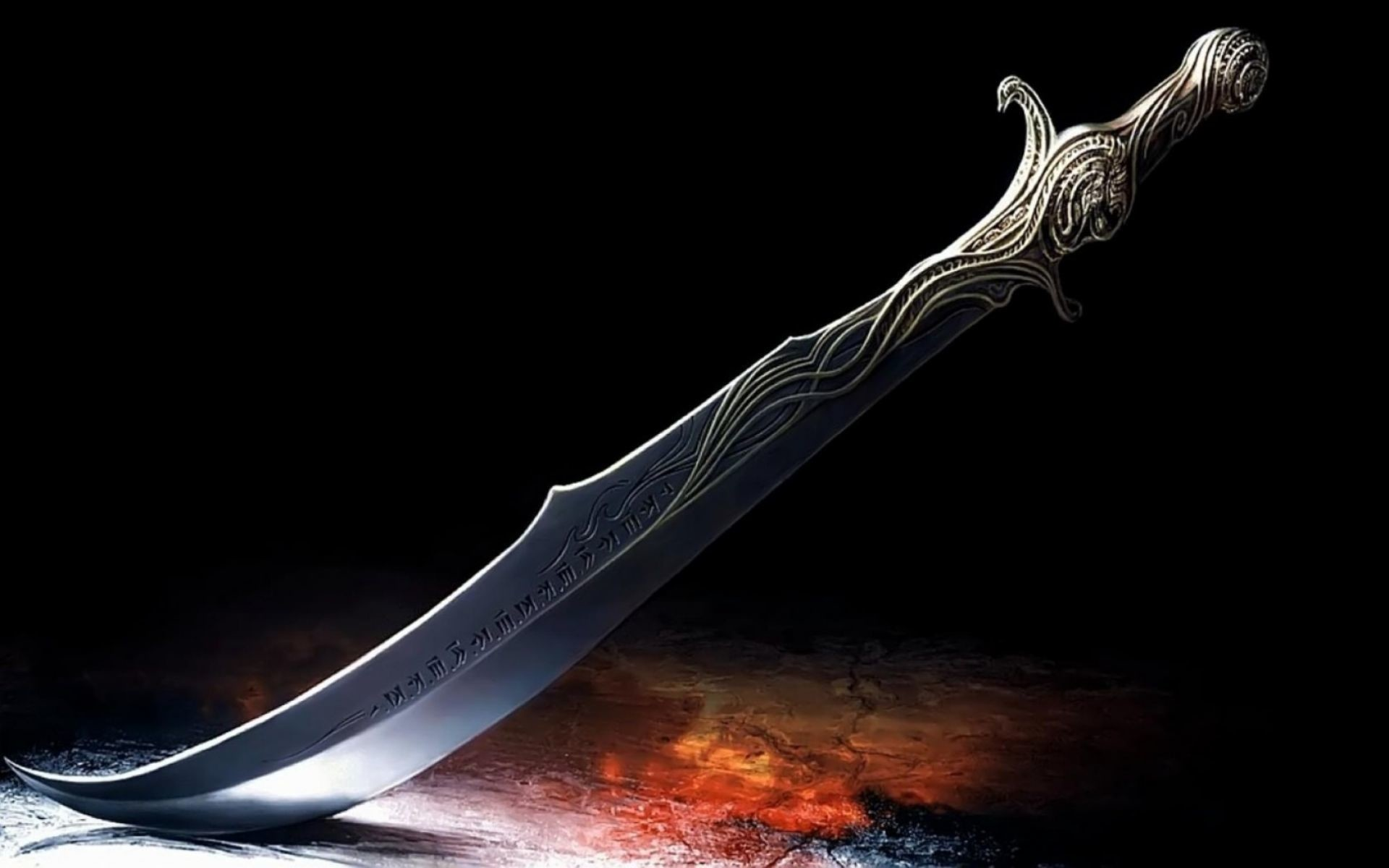 1920x1200 3D Hindu Sword With Fire Wallpaper | HD 3D and Abstract Wallpaper Free  Download ...