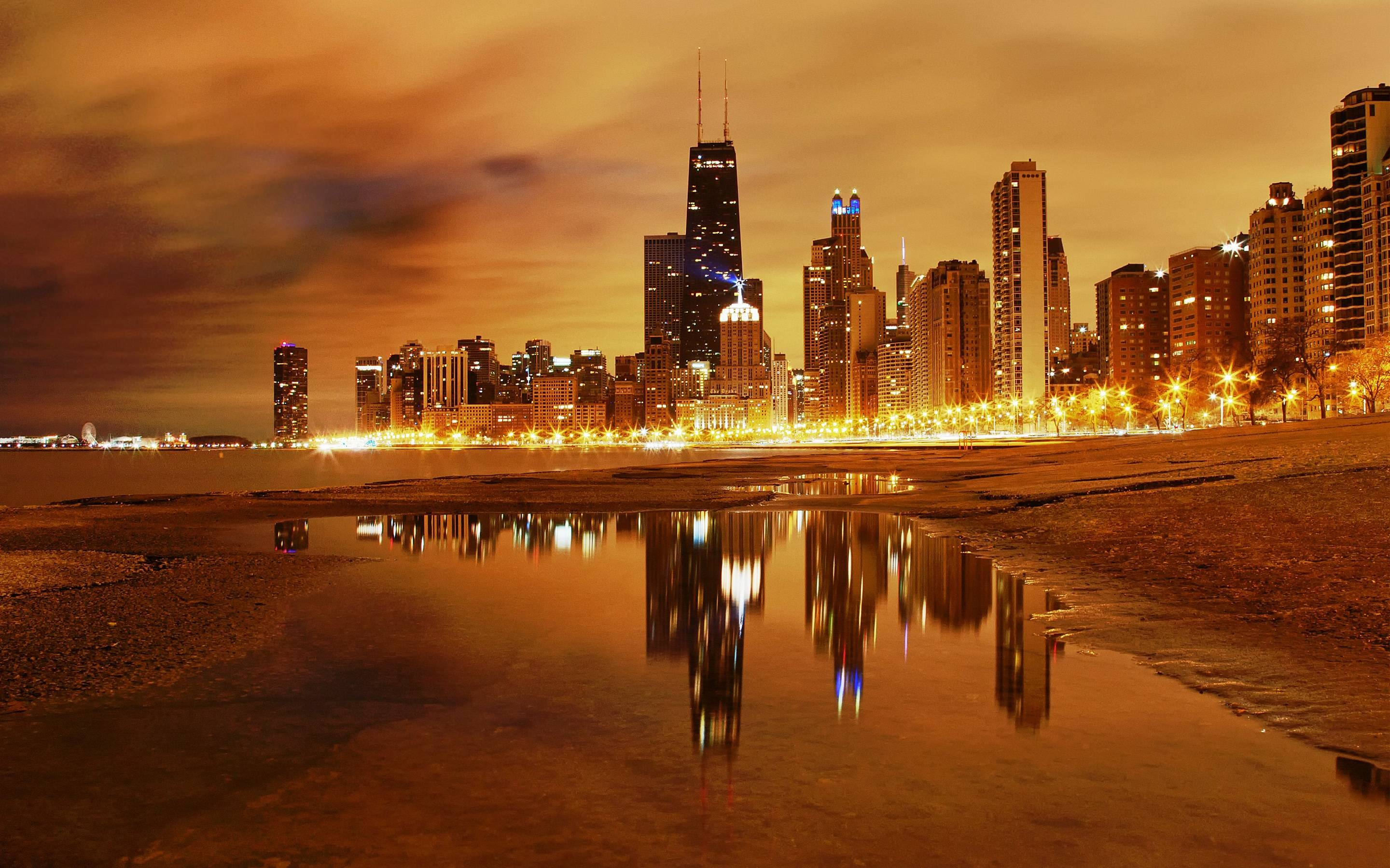 2880x1800 Chicago City Skyline Wallpaper
