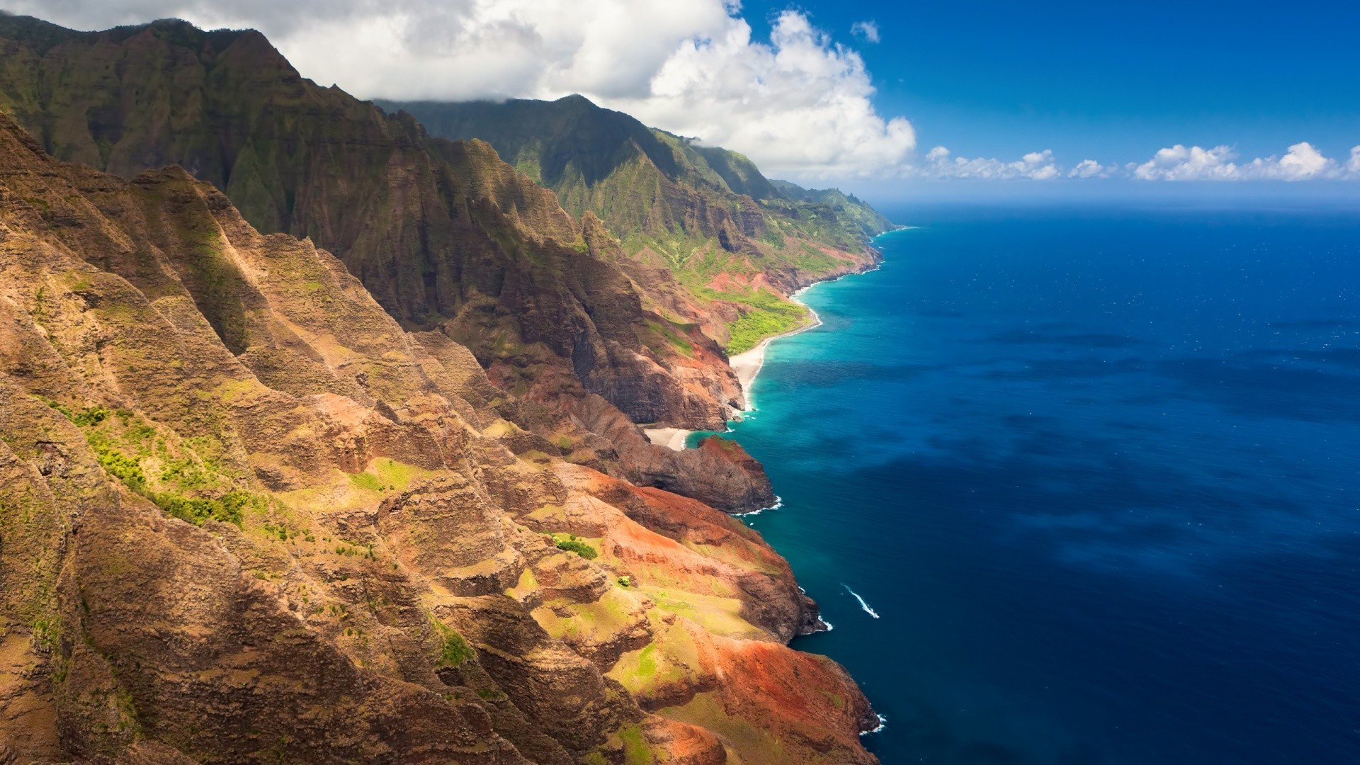 1920x1080 landscape, Na Pali Coast, Coast, Sea, Hawaii Wallpapers HD .