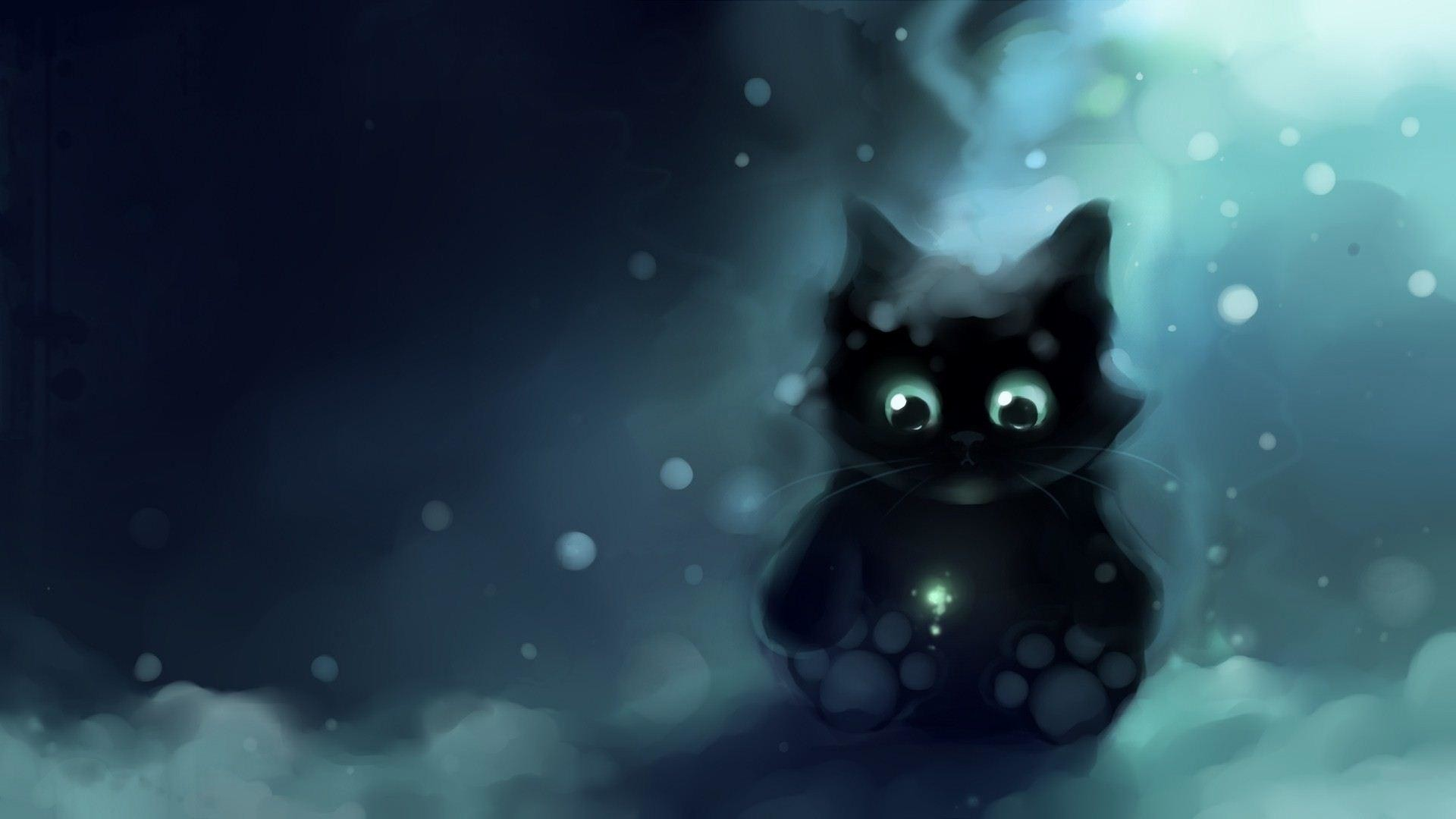 1920x1080 wallpaper.wiki-Anime-Cat-Background-Full-HD-PIC-