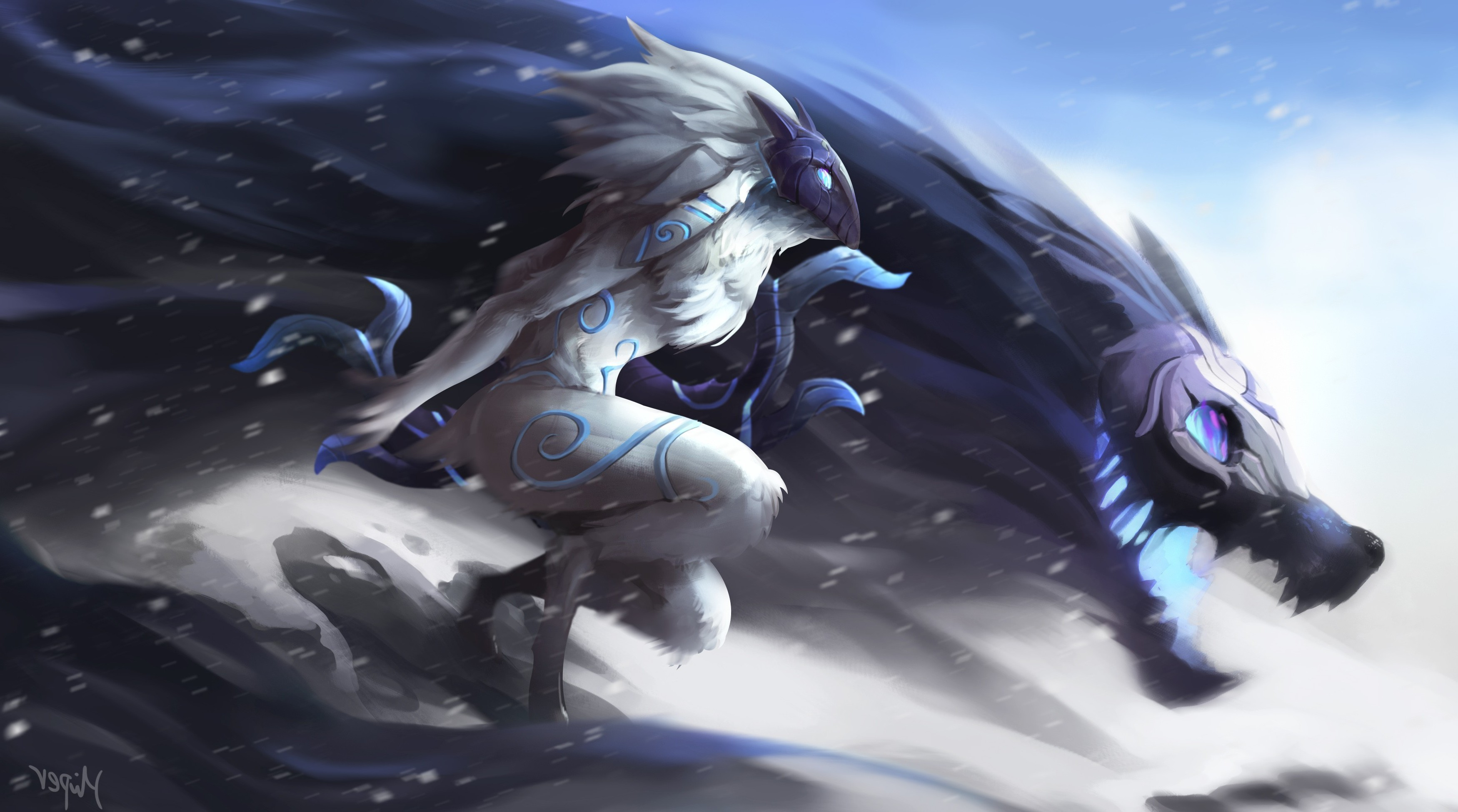 3500x1950 League Of Legends, Kindred Wallpapers HD / Desktop and Mobile Backgrounds