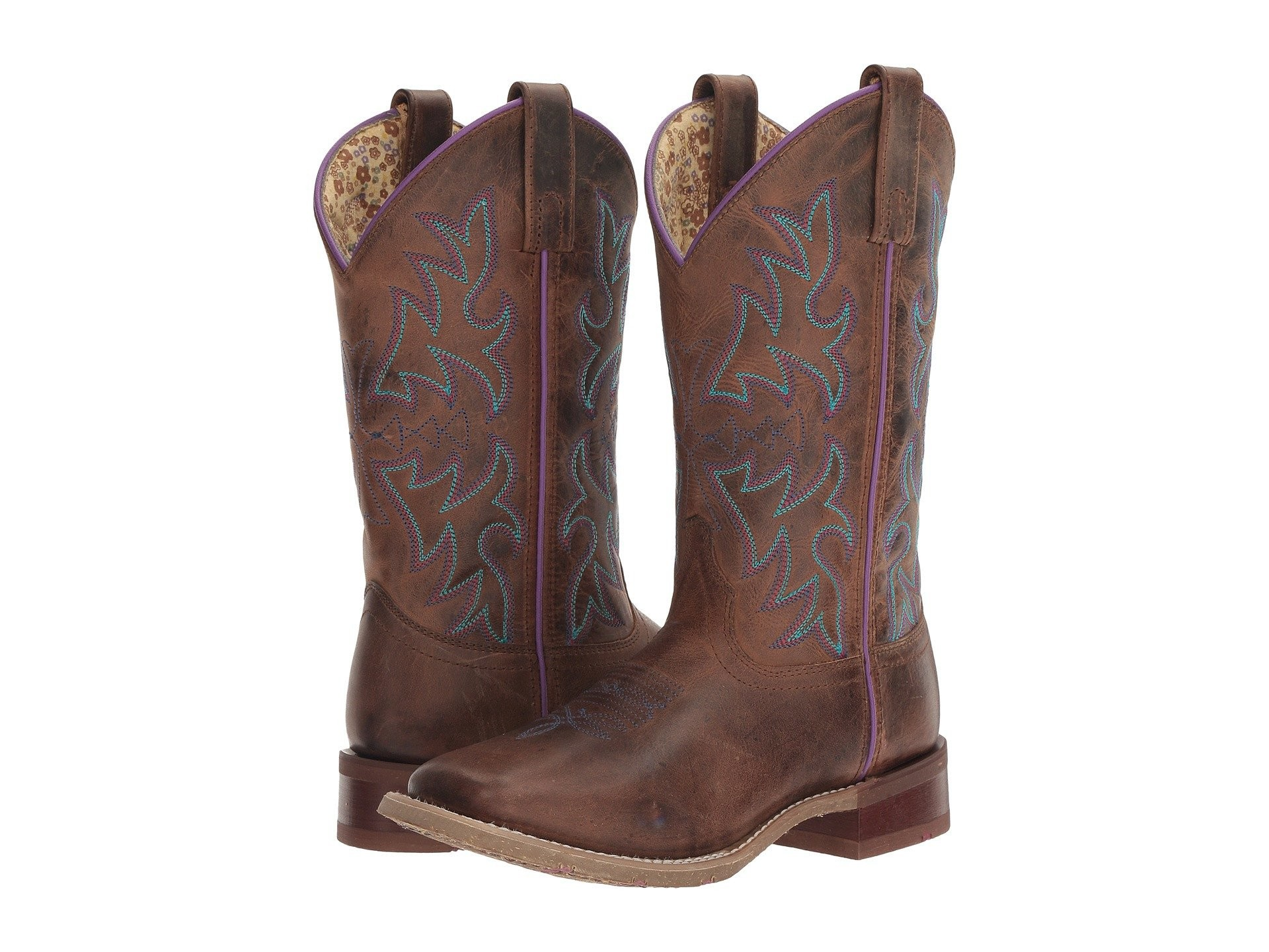 1920x1440 Laredo Women's Rust Ellery Embroidered Leather Cowboy Boots 5654
