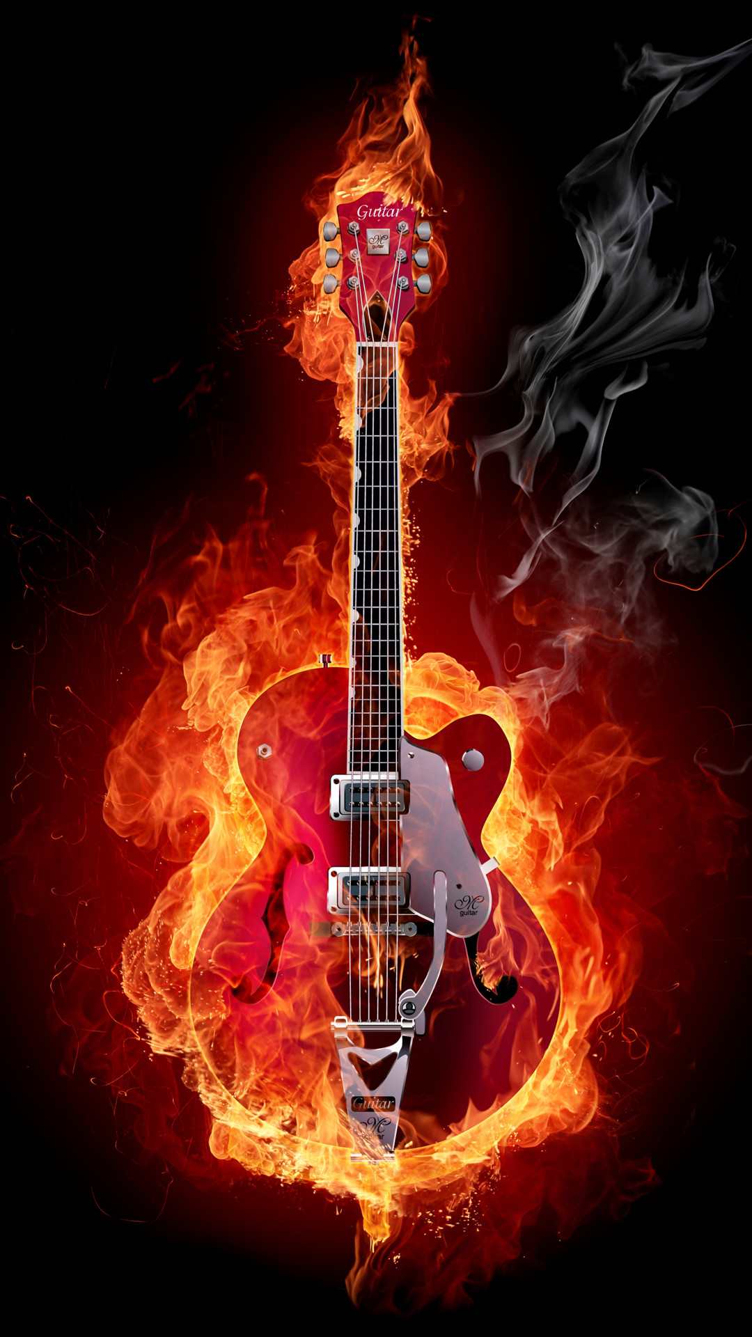 Guitar On Fire Wallpaper 64 Images