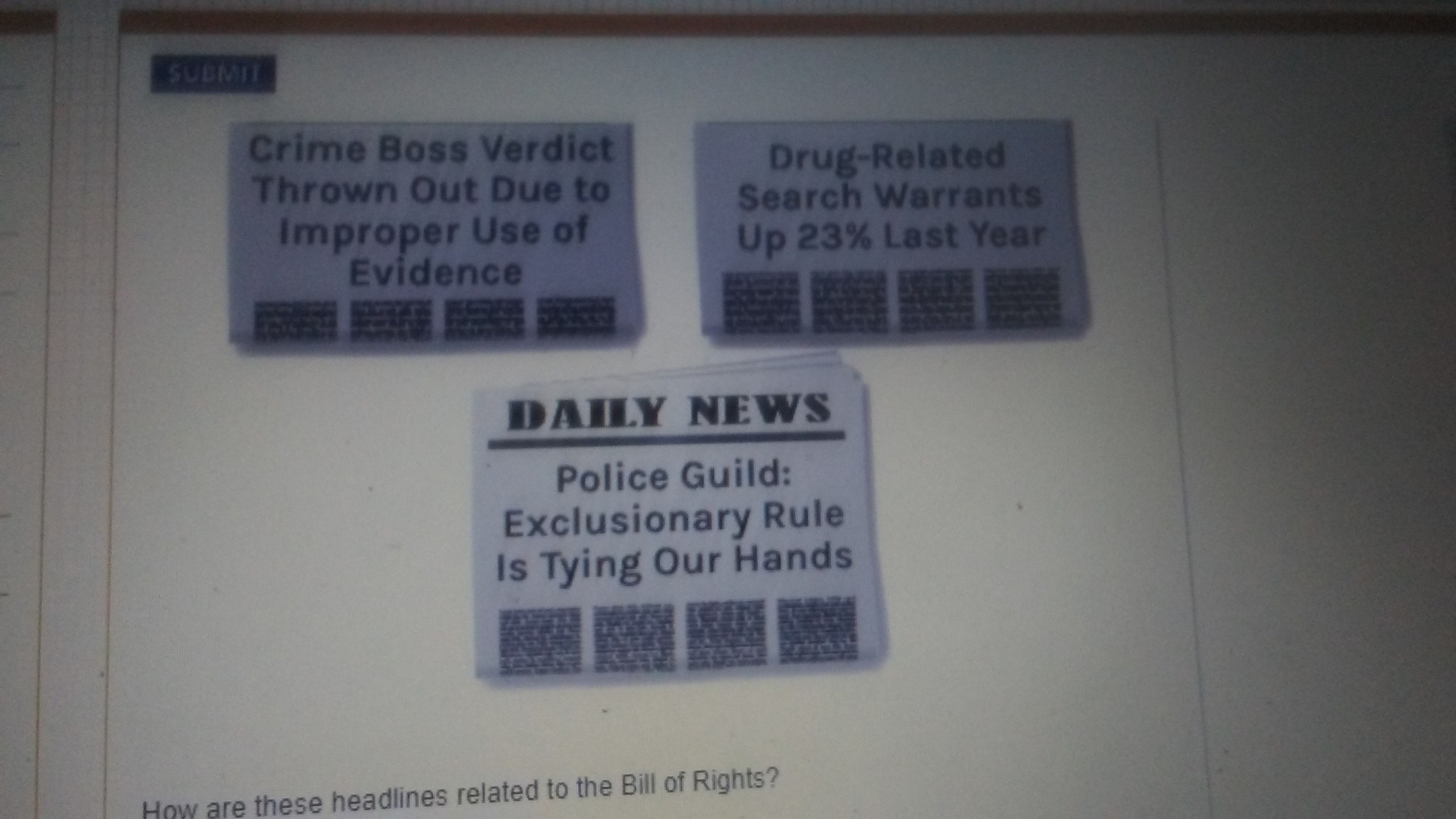 2560x1440 How are these headlines related to bill of rights
