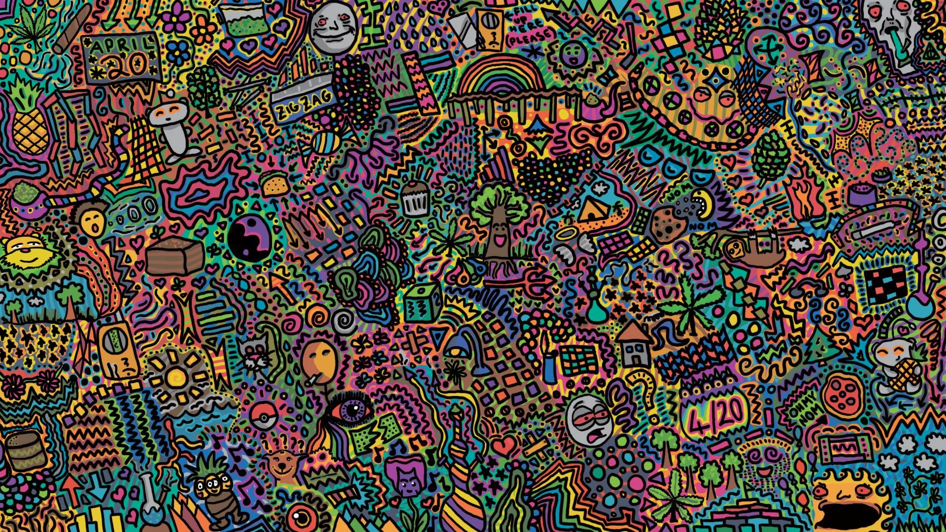 1920x1080 Doodle Backgrounds HD Desktop.