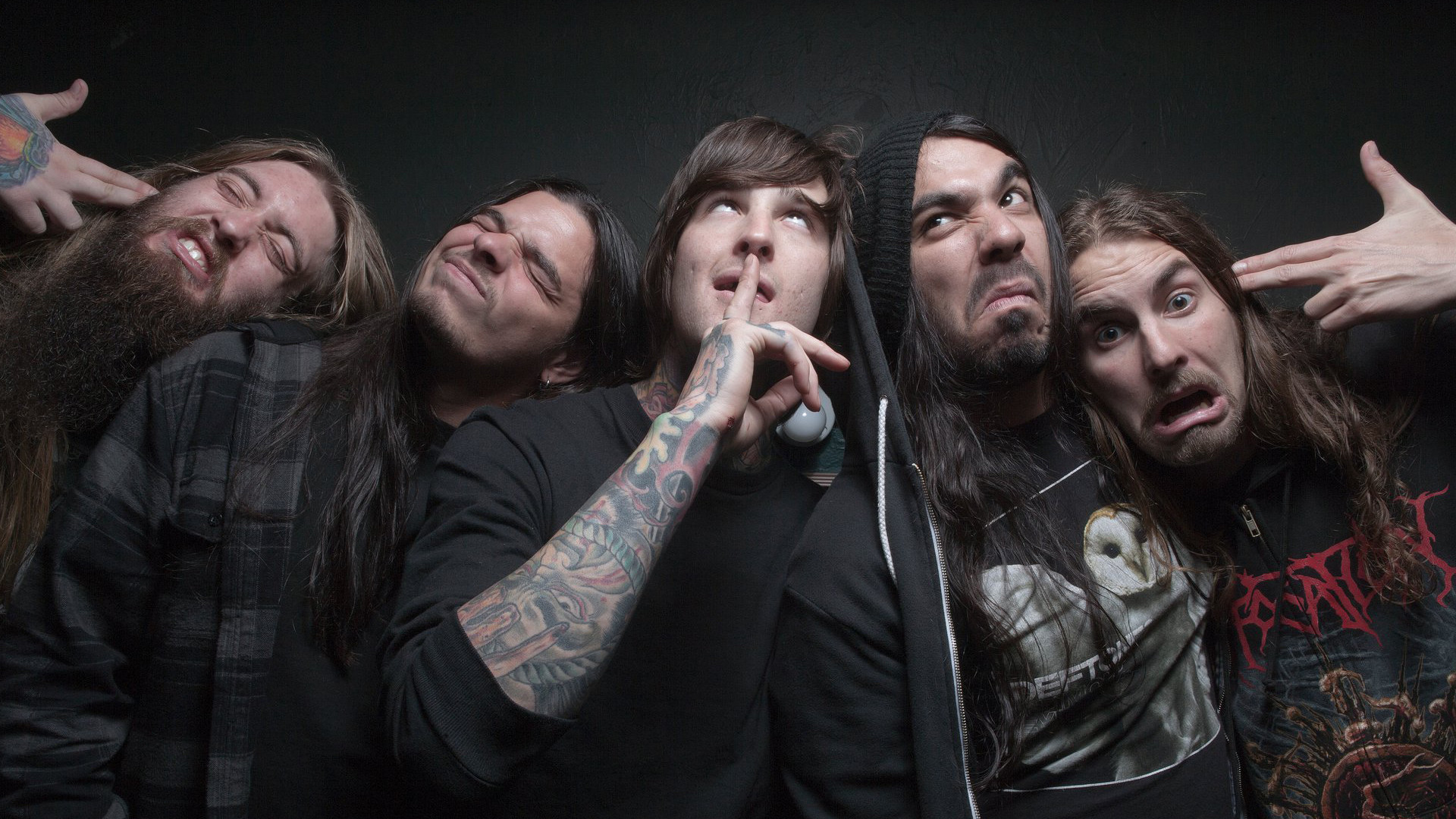 1920x1080 Preview wallpaper suicide silence, deathcore, mark heylmun, chris garza, mitch  lucker,