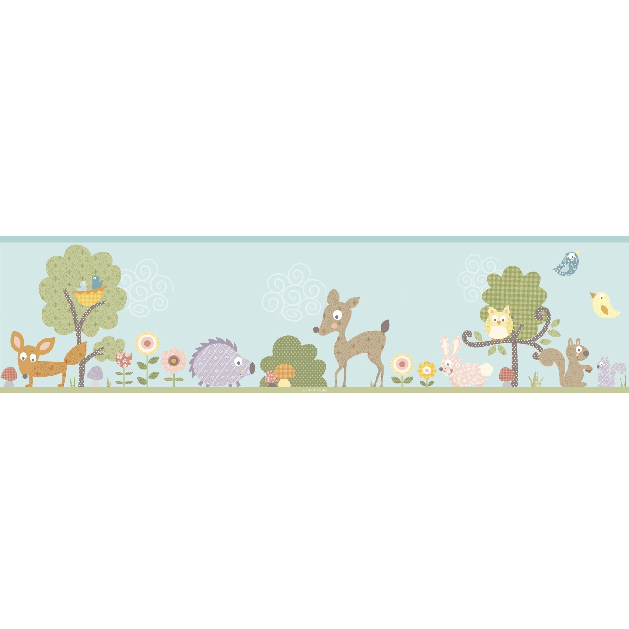 2000x2000 Room Mates Studio Designs Woodland Animals Wall Border - RMK1420BCS