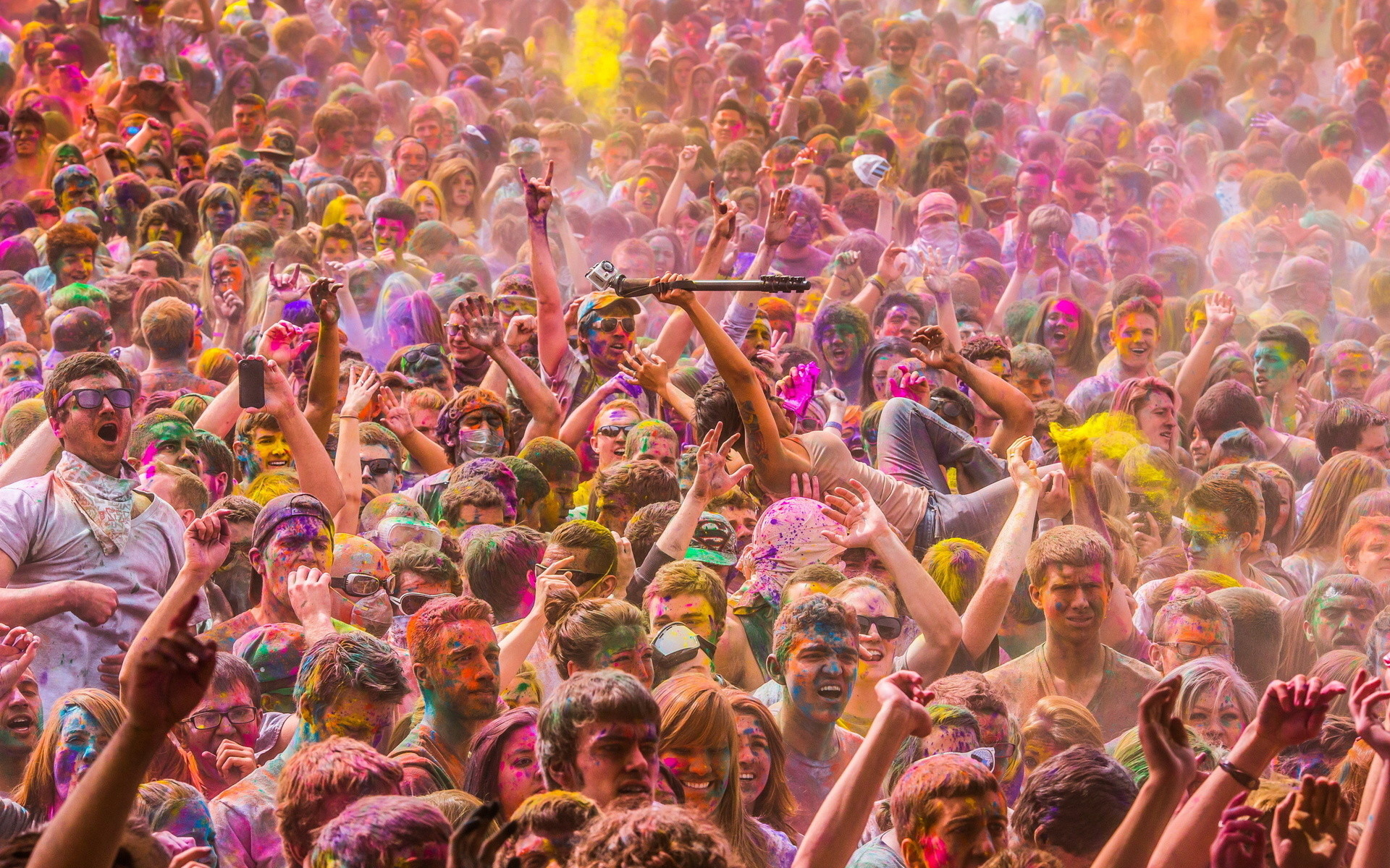 1920x1200 Artistic - Psychedelic Photography Crowd People Wallpaper