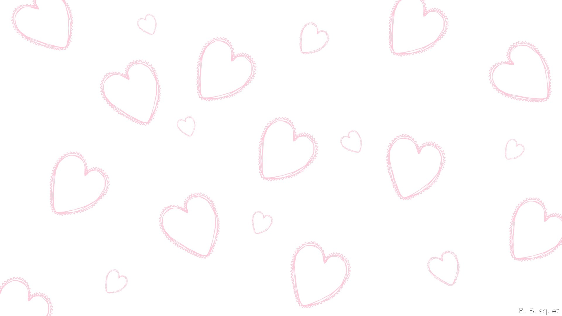 1920x1080 Pink And White Heart Wallpaper