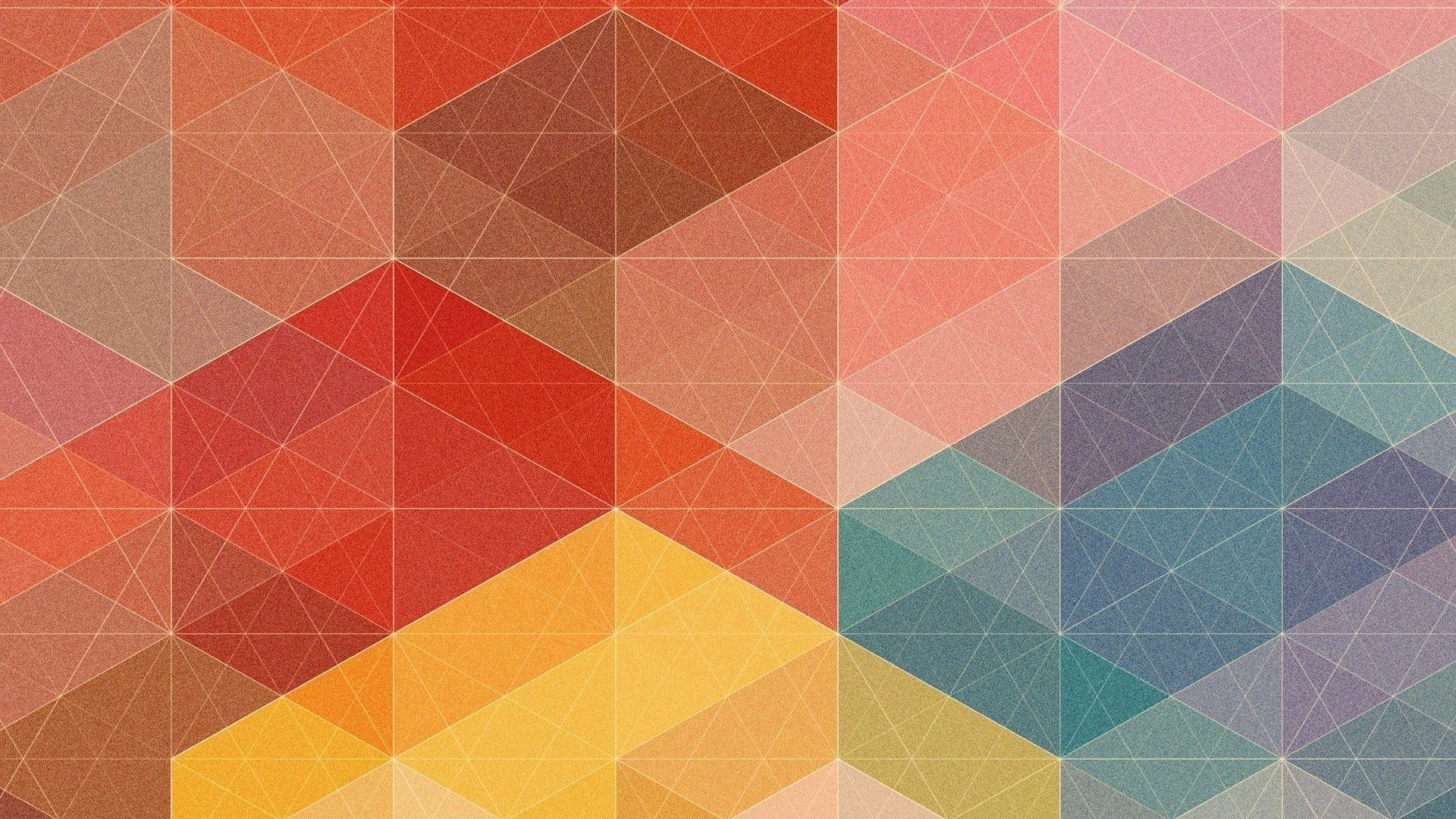 1920x1080 ... Grainy geometric colors from WallpaperCave