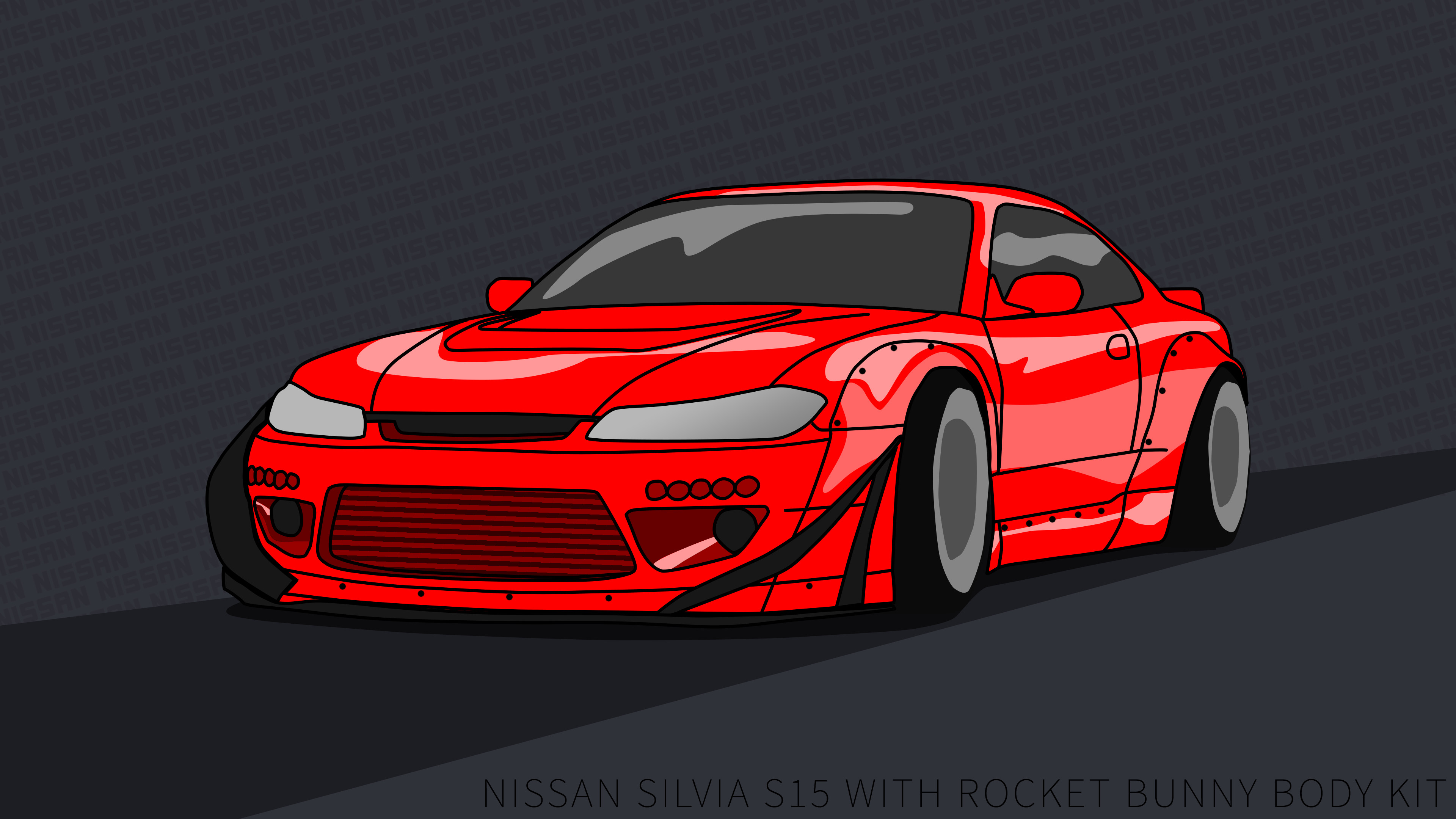 3840x2160 ... Nissan Silvia S15 wallpaper 4k rocket bunny Red by ItsBarney01