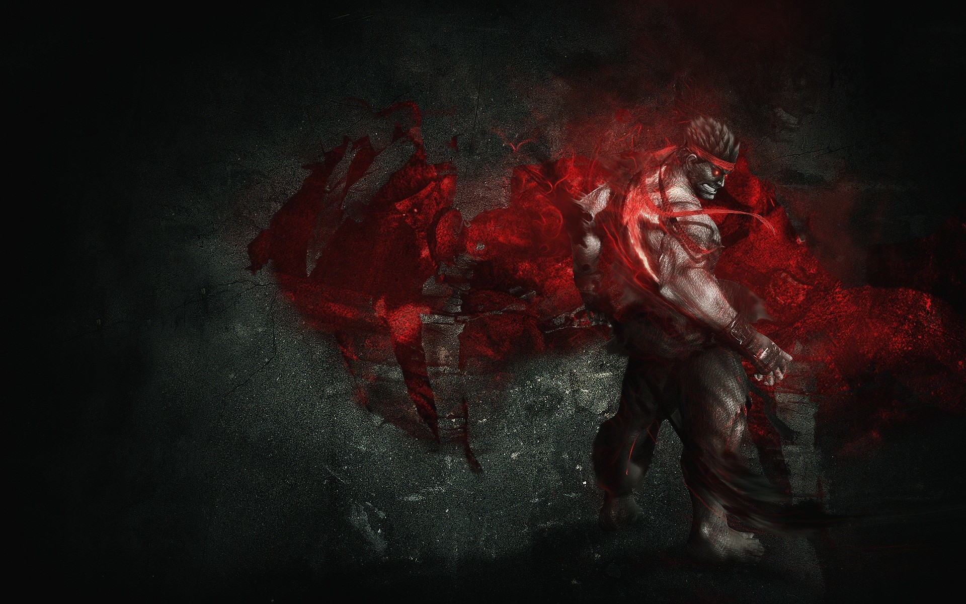 1920x1200 Ryu Street Wallpaper  Ryu, Street, Fighter, IV, Artwork, Evil .