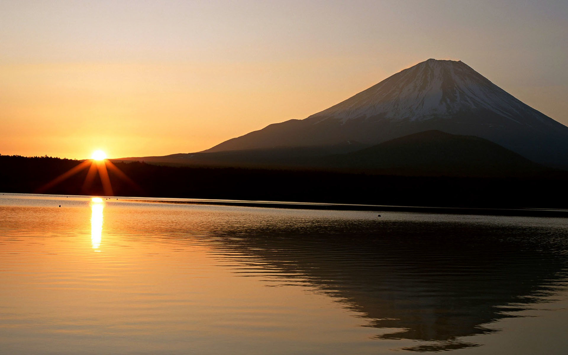 Cool mountain backgrounds with sunset
