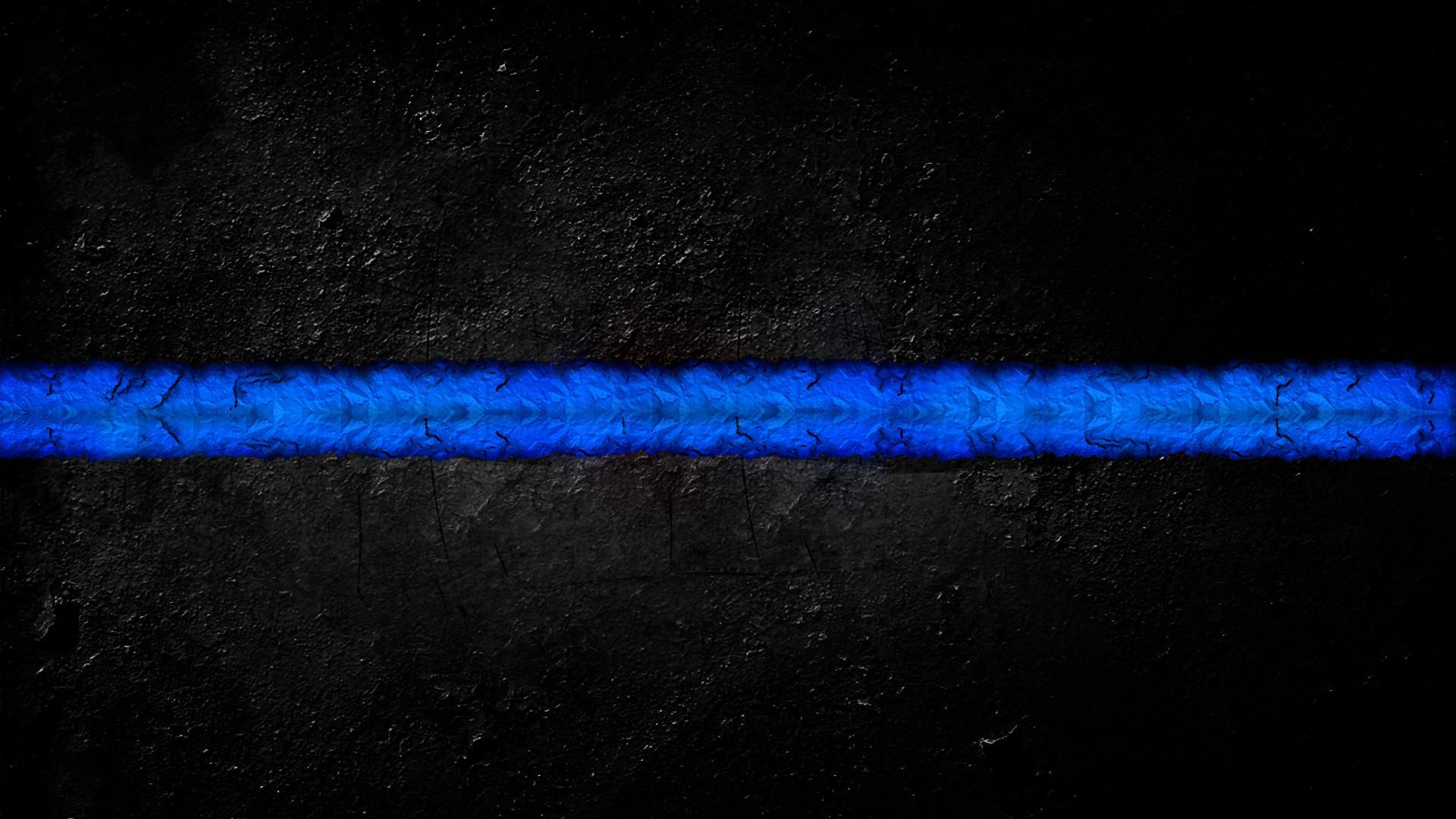 X Thin Blue Line Wallpaper Hd X