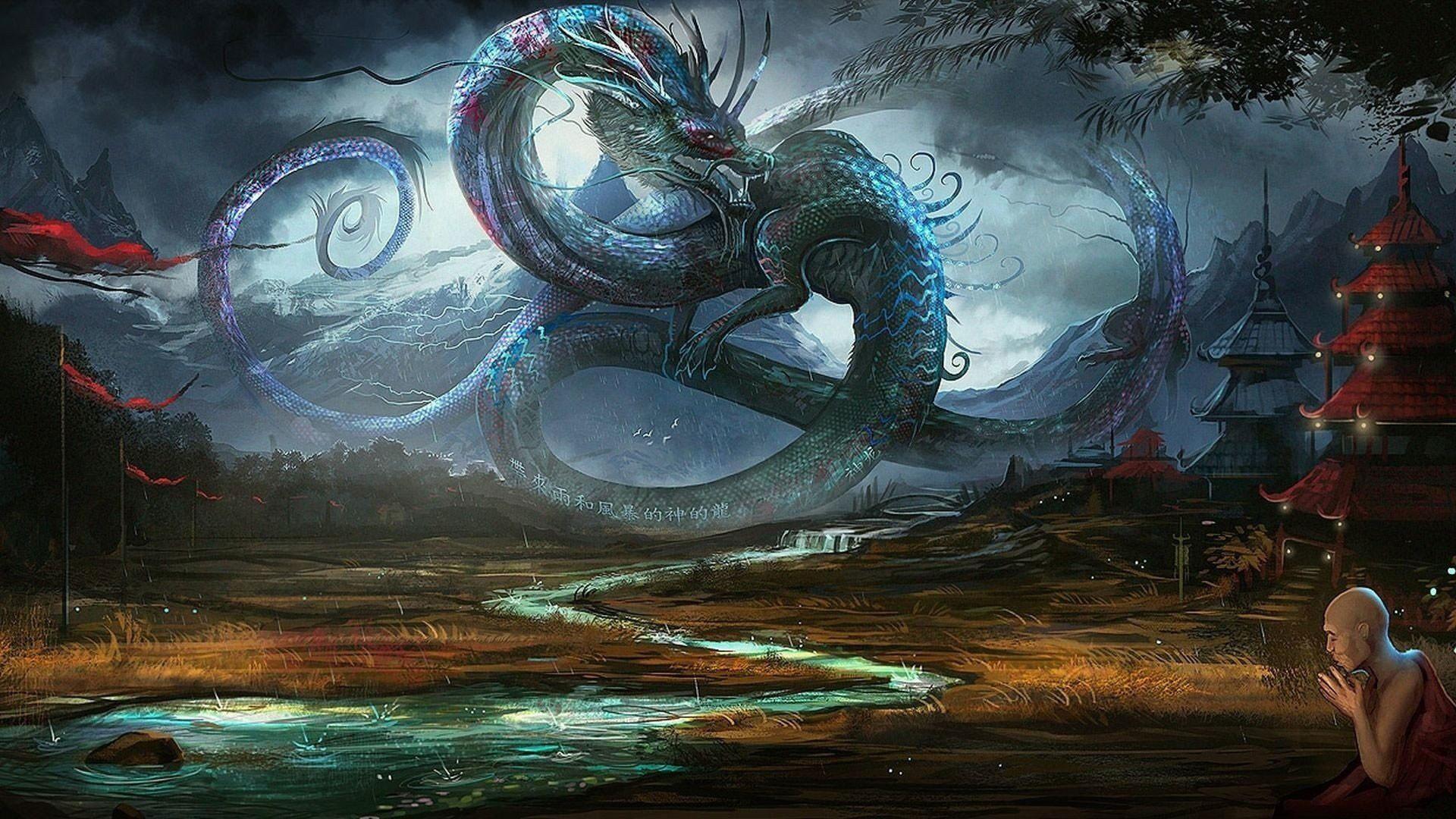Fantasy dragon wallpaper desktop