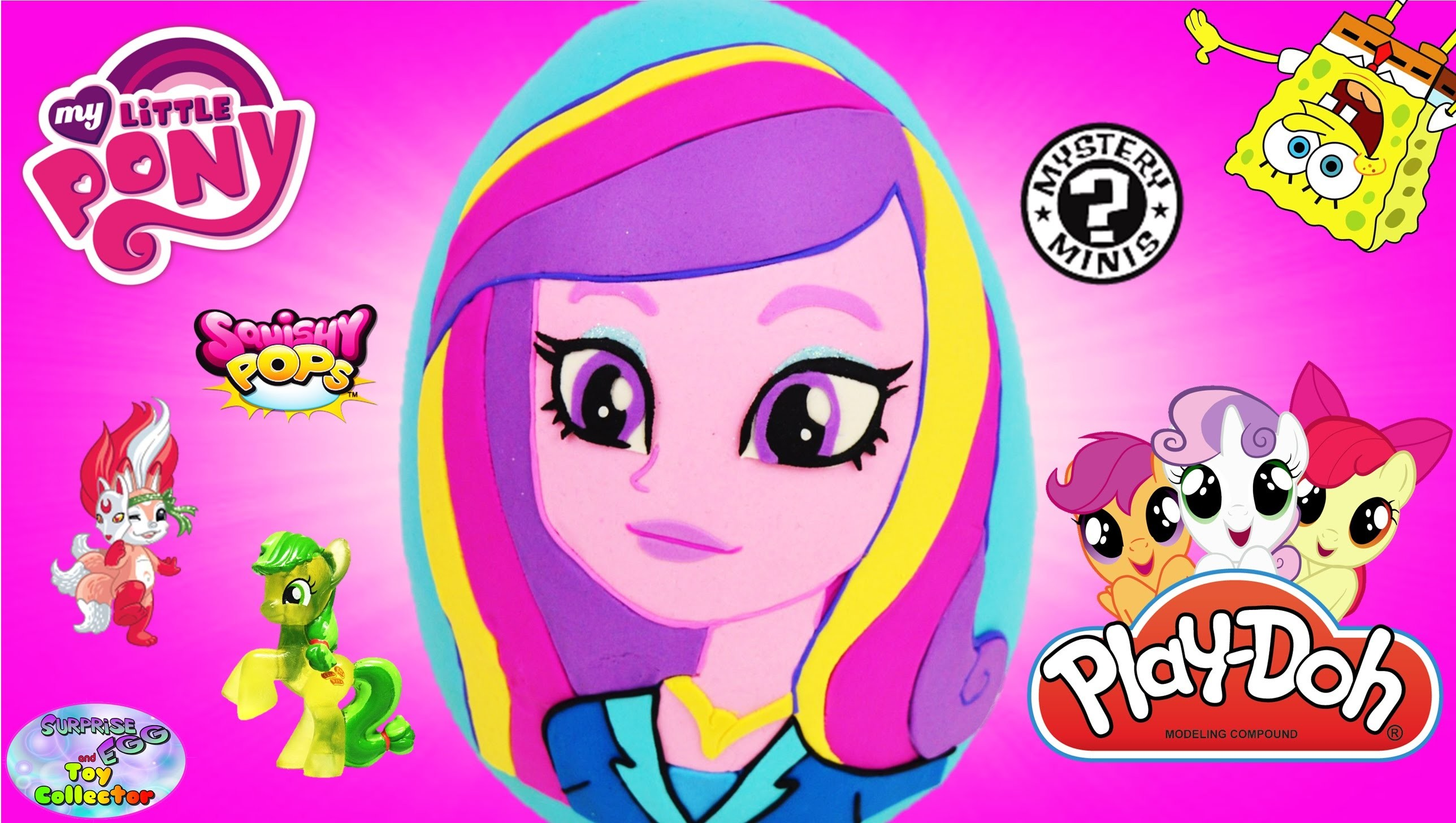 2576x1456 My Little Pony Giant Play Doh Surprise Egg Cadance Equestria Girls MLP  Princess Funko Minions - SETC - YouTube