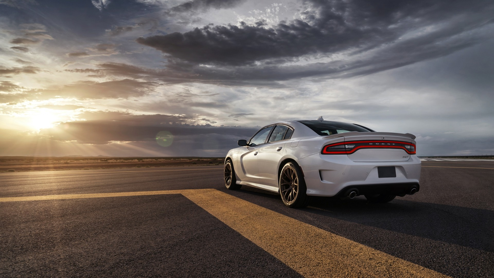 1920x1080 Preview wallpaper dodge, charger, srt, hellcat, 2015, cars, road