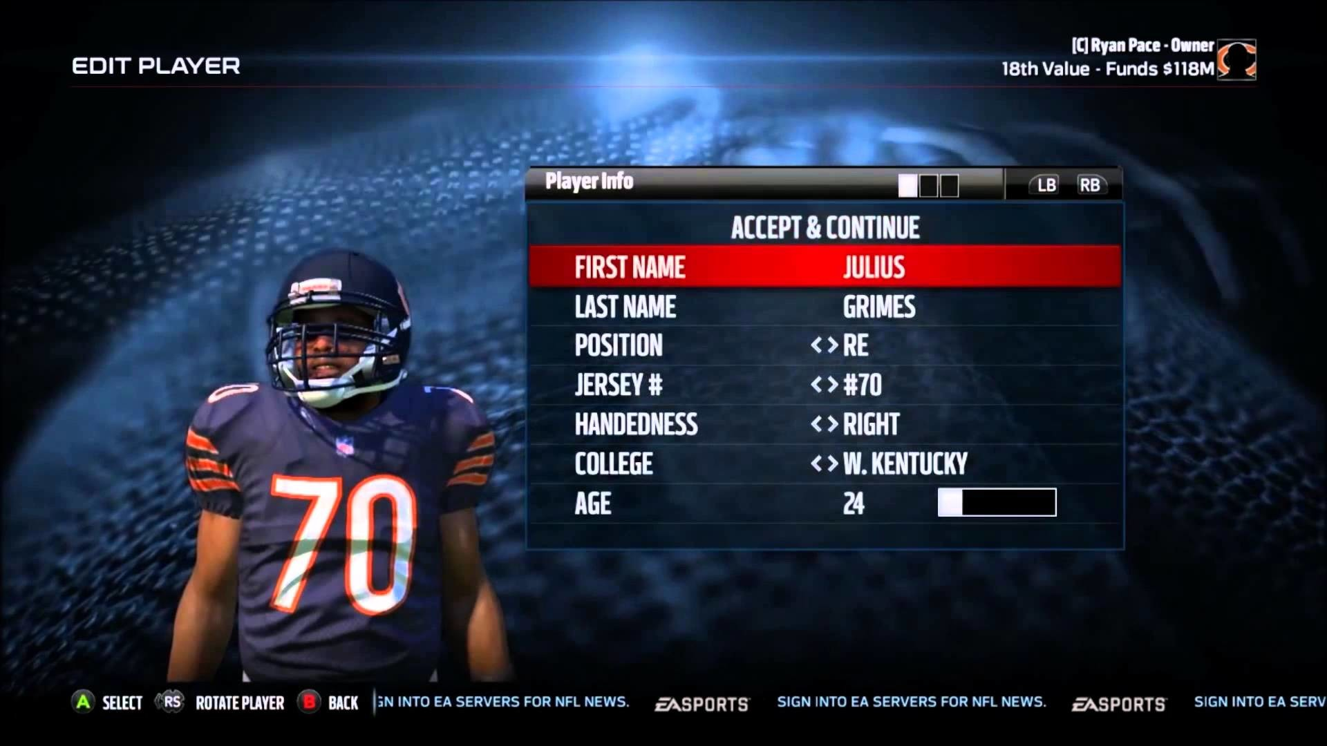 1920x1080 Madden 16 Chicago Bears Franchise Offseason Year 2 Draft Recap and Training  Camp Roster