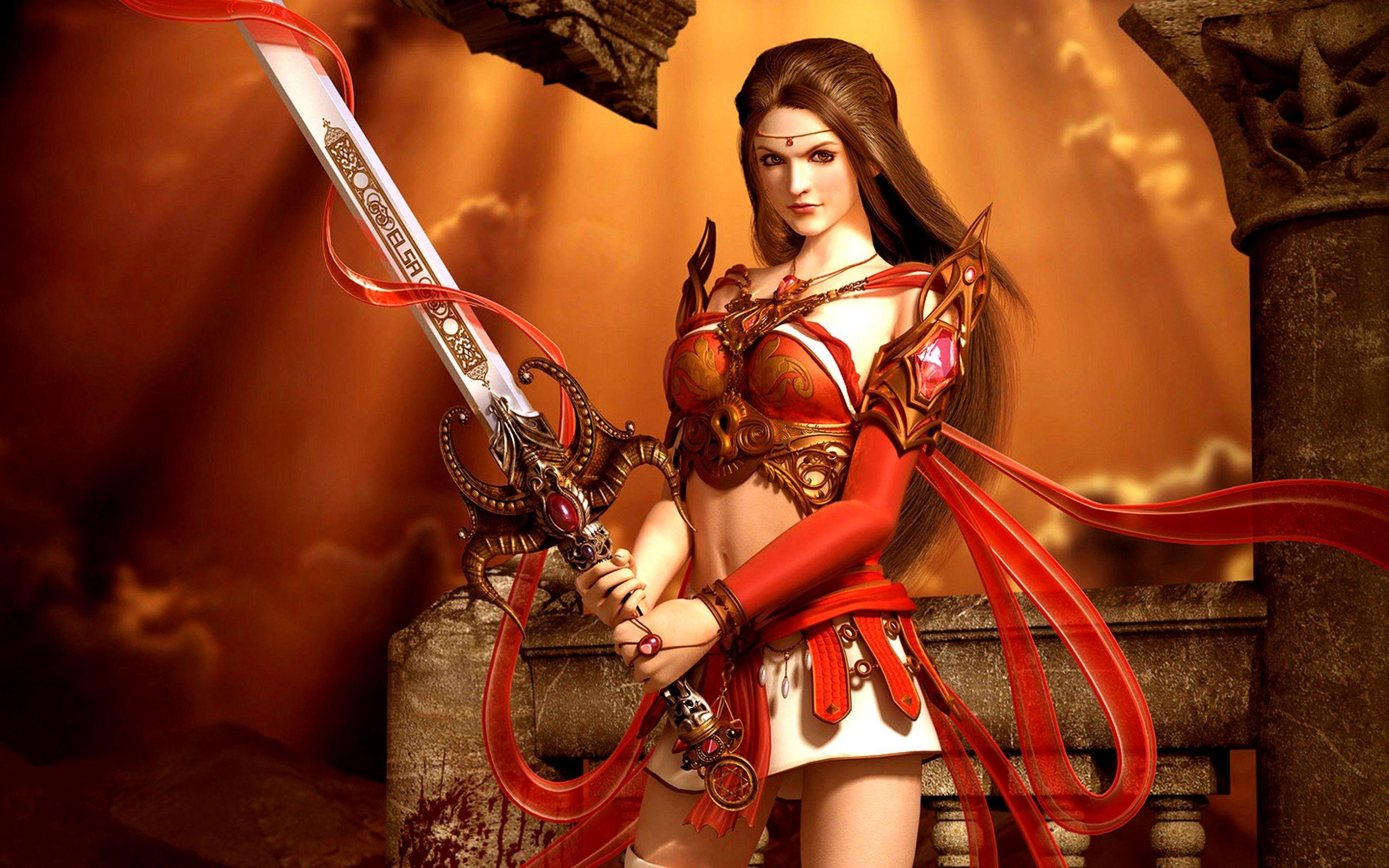 Fantasy Female Warrior - YouTube