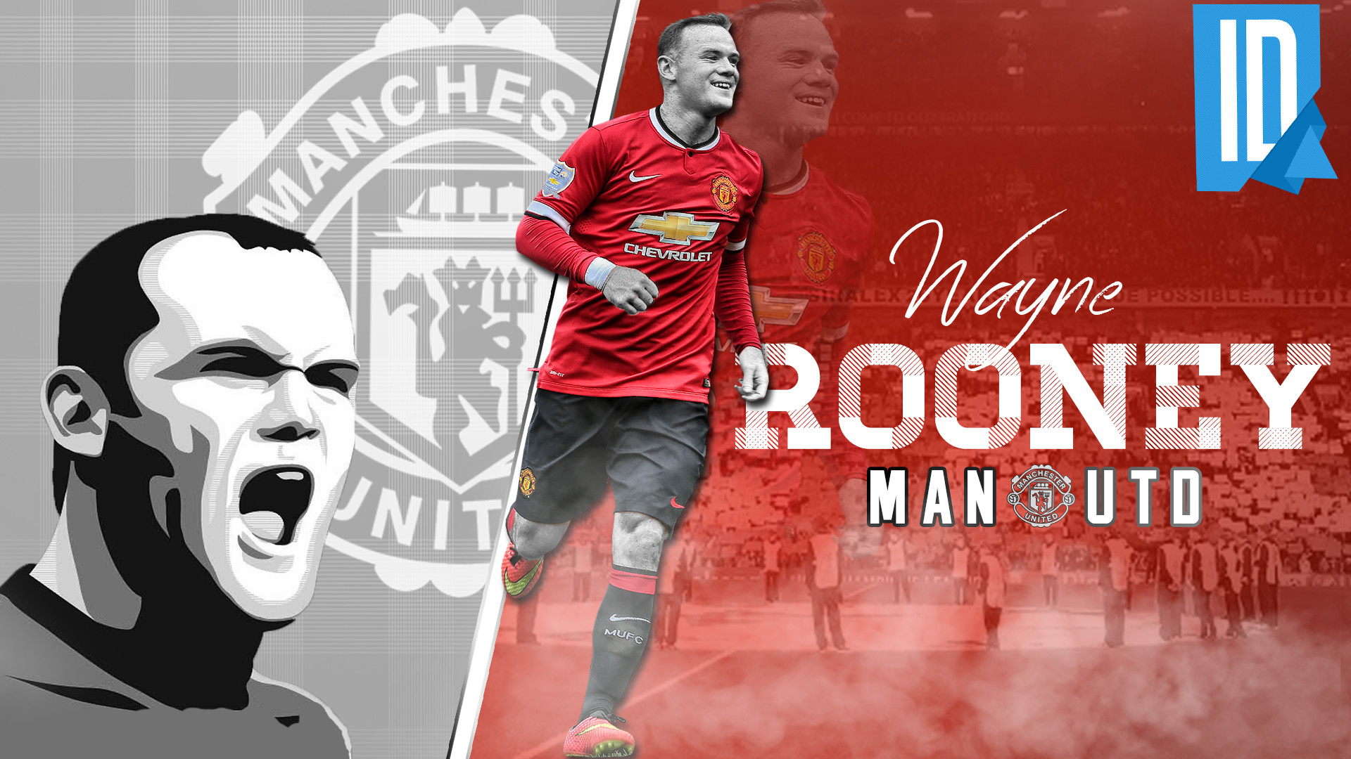 1920x1080 ... IndividualDesign Wayne Rooney RED DEVIL - Wallpaper by IndividualDesign