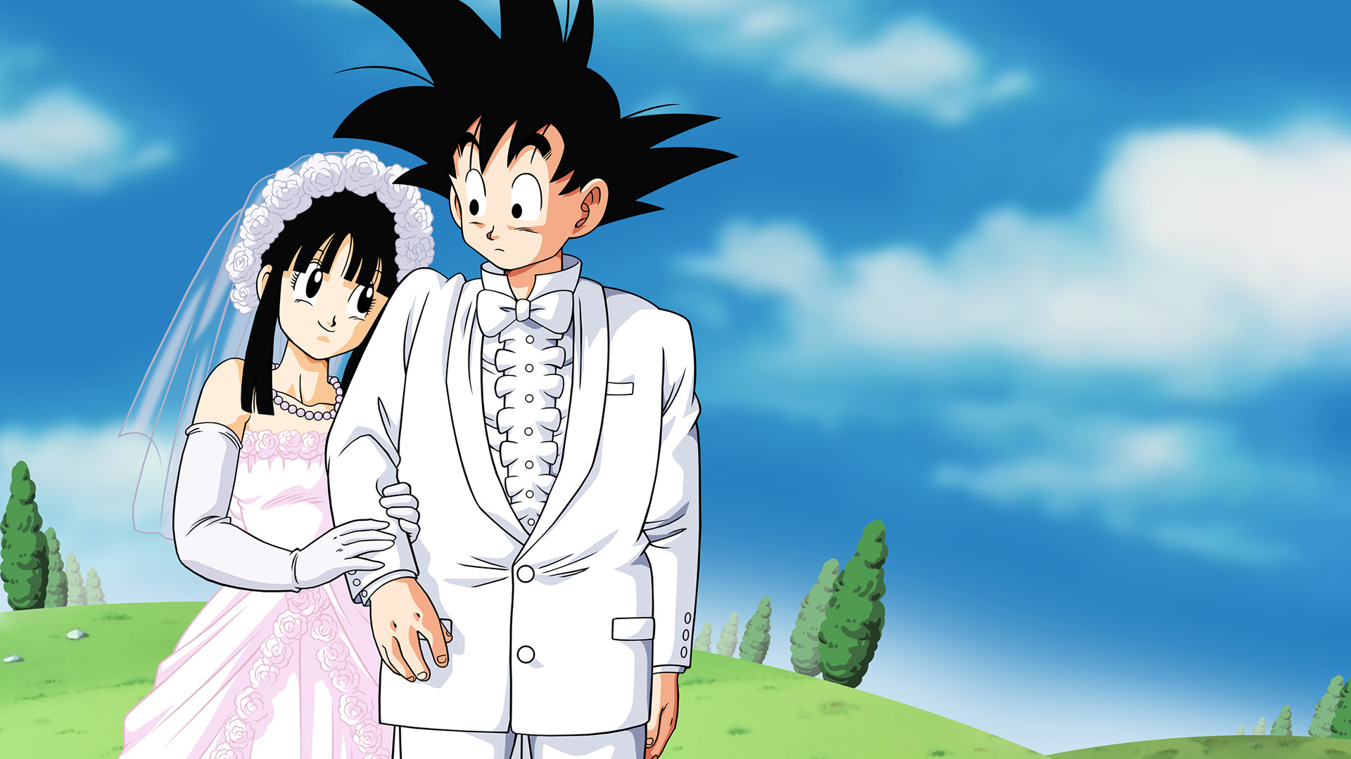 1920x1080 Goku and Chi-Chi Marriage