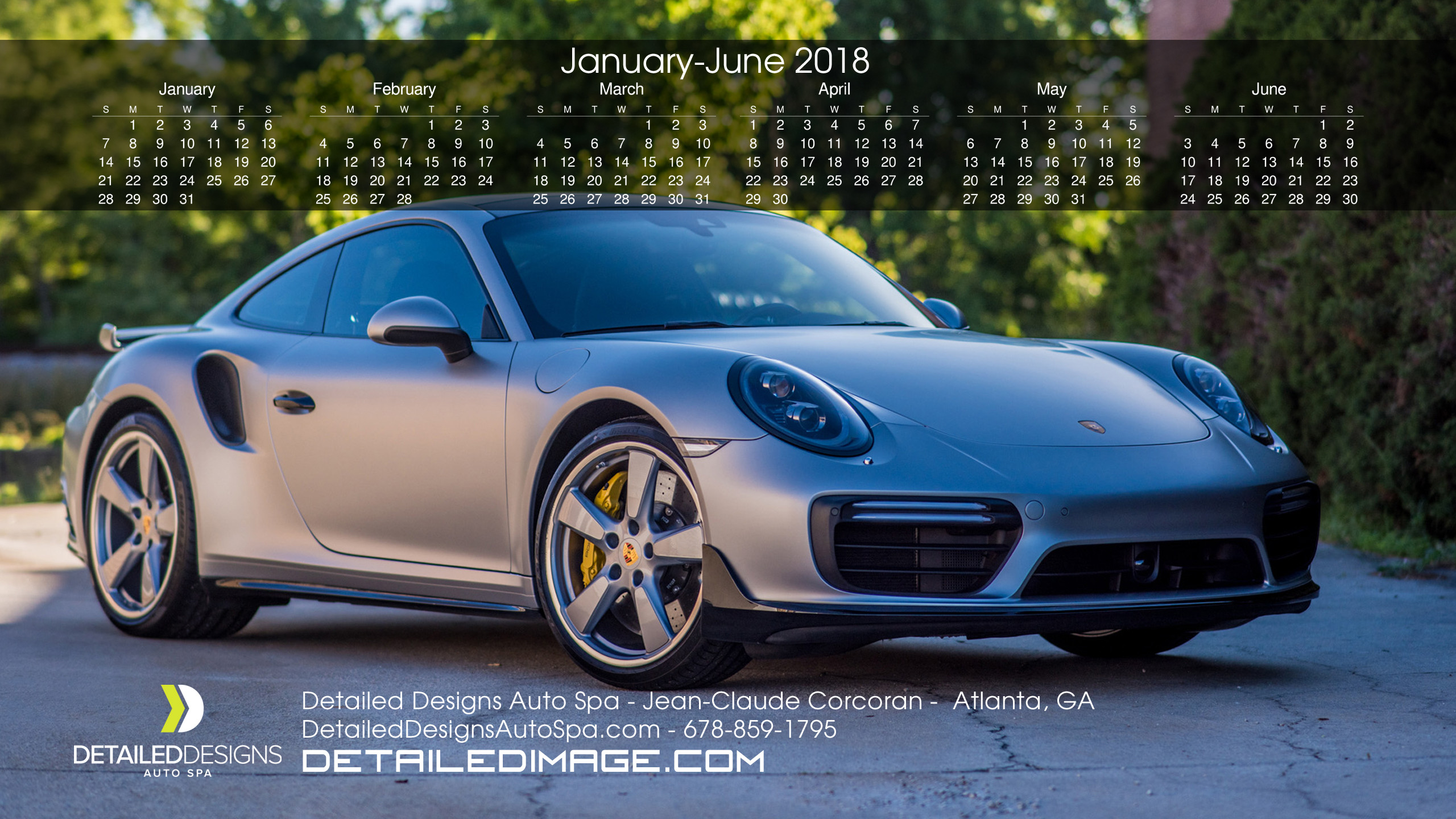 2560x1440 January - June 2018. Download Calendar | Download Wallpaper