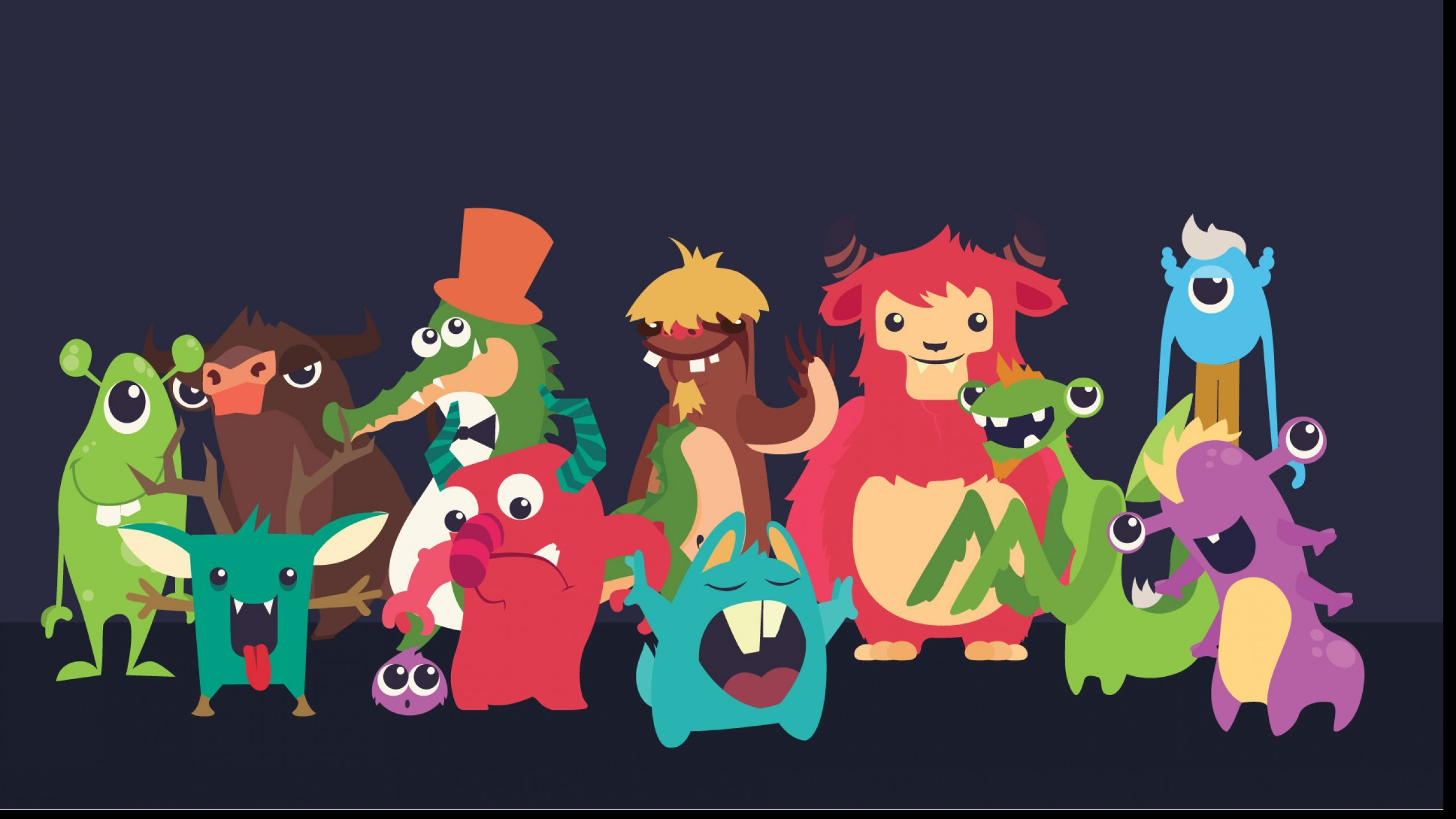 Black Cartoon Wallpaper 55 Image Collections Of: Monster Cute Wallpapers (55+ Images