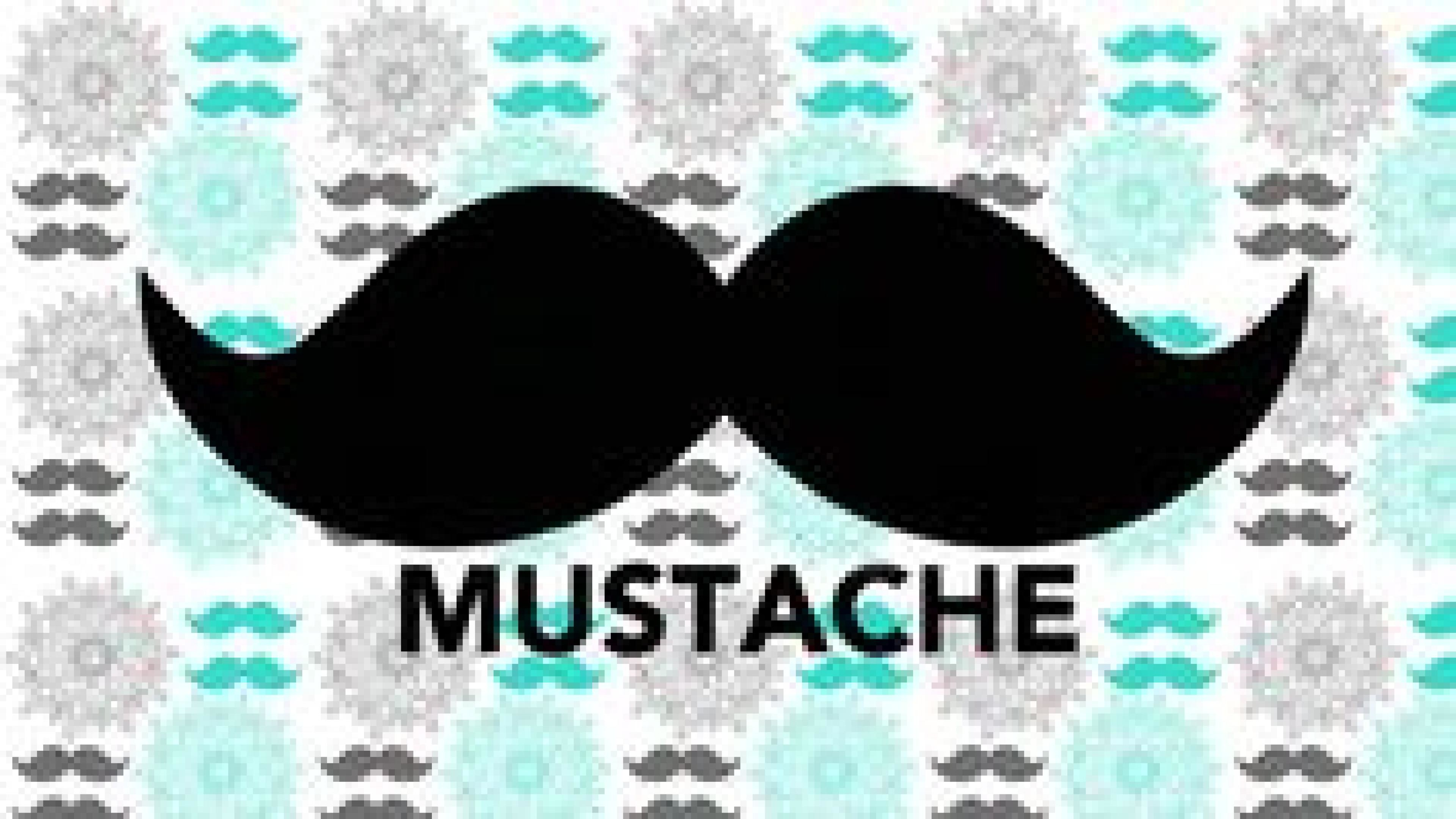 3840x2160 Phone cute mustache teal wallpaper jpg  Phone cute mustache teal  wallpaper