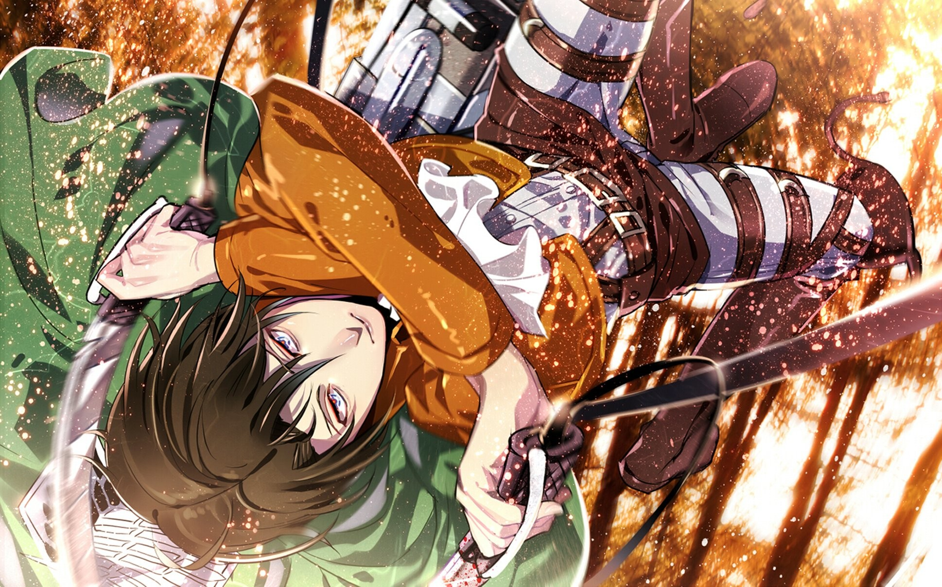 1938x1208 Attack on titan shingeki no kyojin guy anime art rivaille levi wallpaper |   | 932959 | WallpaperUP