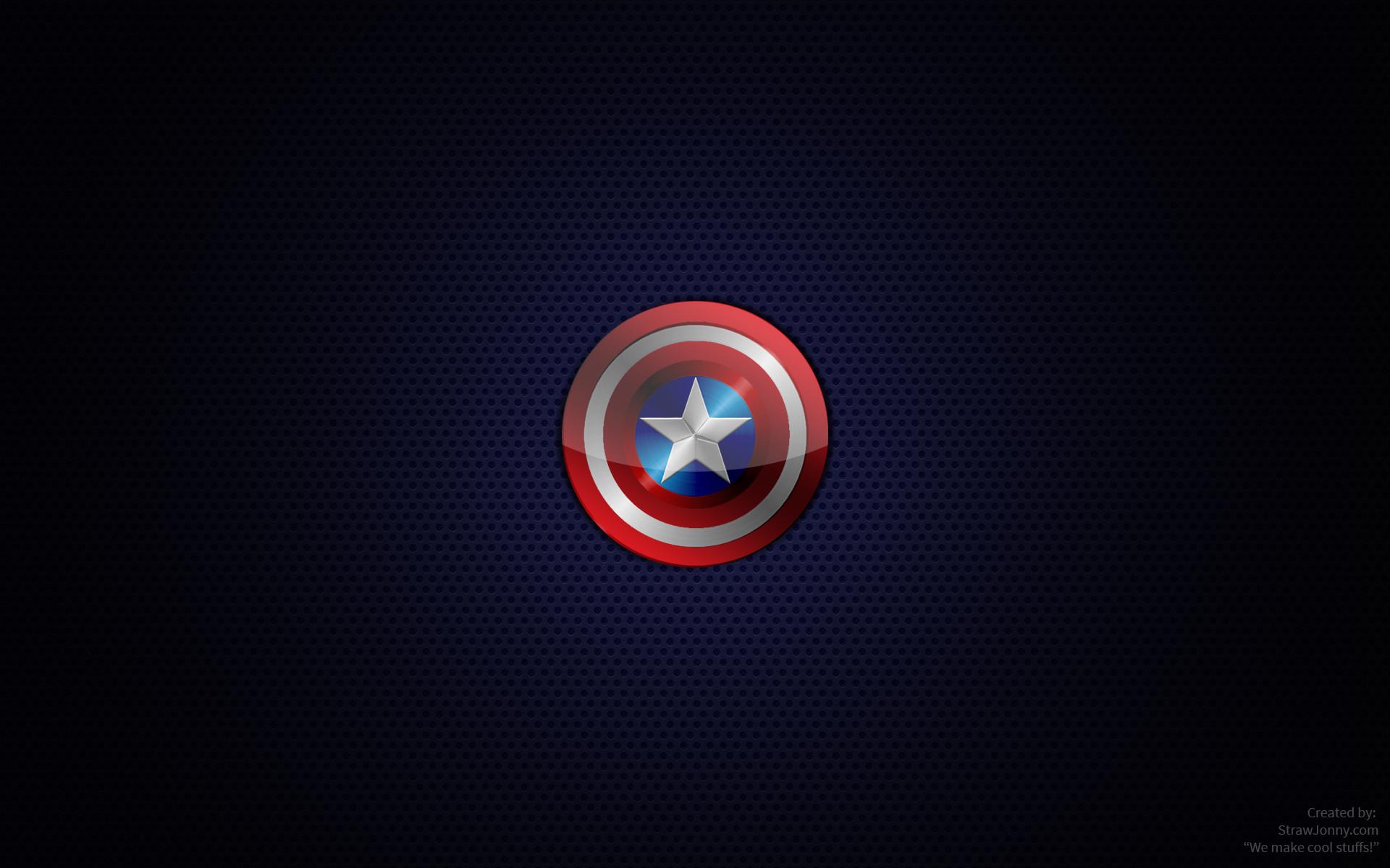 Captain America Logo Hd Wallpaper 1920 X 1080